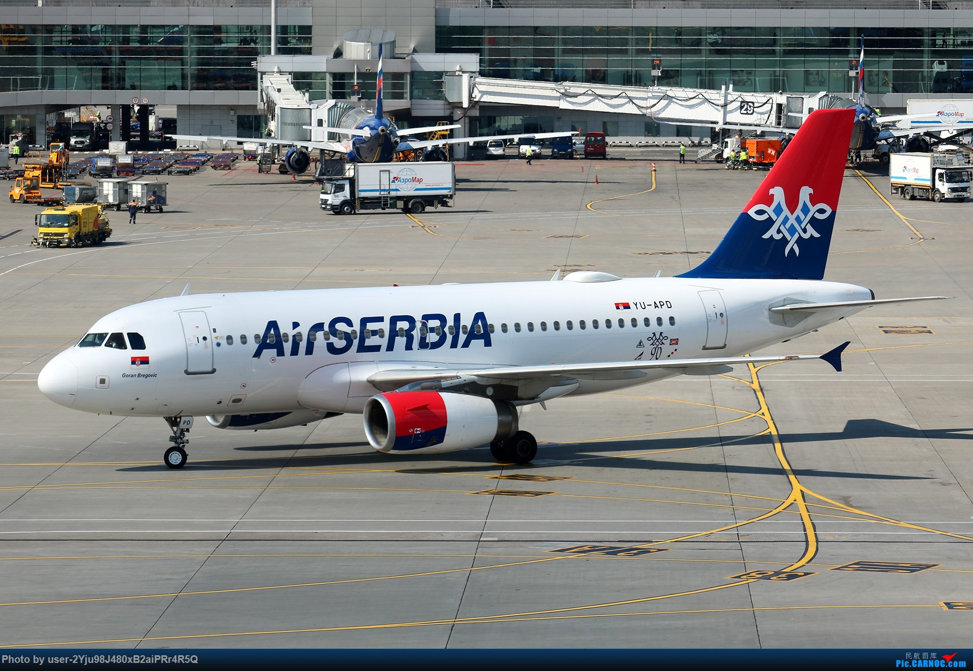 Re:[原创]LIULIU|Sheremetyevo的漫游|其他篇 AIRBUS A319-132 YU-APD 俄罗斯谢诺梅杰沃机场