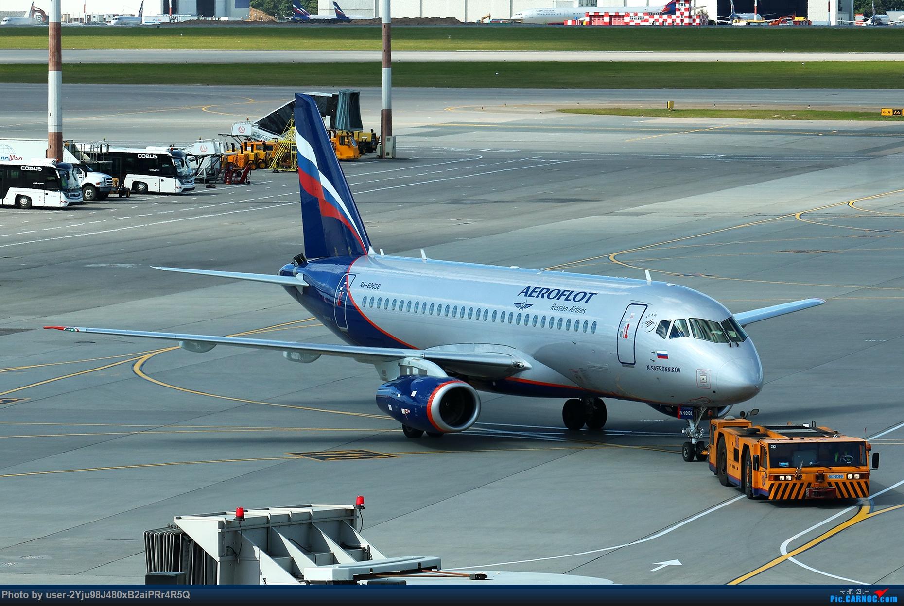 [原创]LIULIU Sheremetyevo的漫游 Aeroflot毛航篇 SSJ-100 RA-89058 俄罗斯谢诺梅杰沃机场