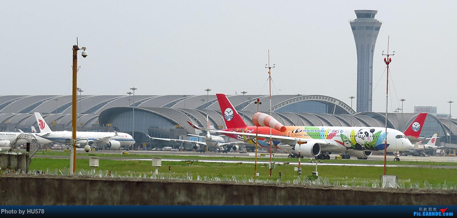 [原创]罕见,中国内地目前仅有的两架350同框,标题党,卡片机图渣渗入 AIRBUS A350-900 B-301D 中国成都双流国际机场