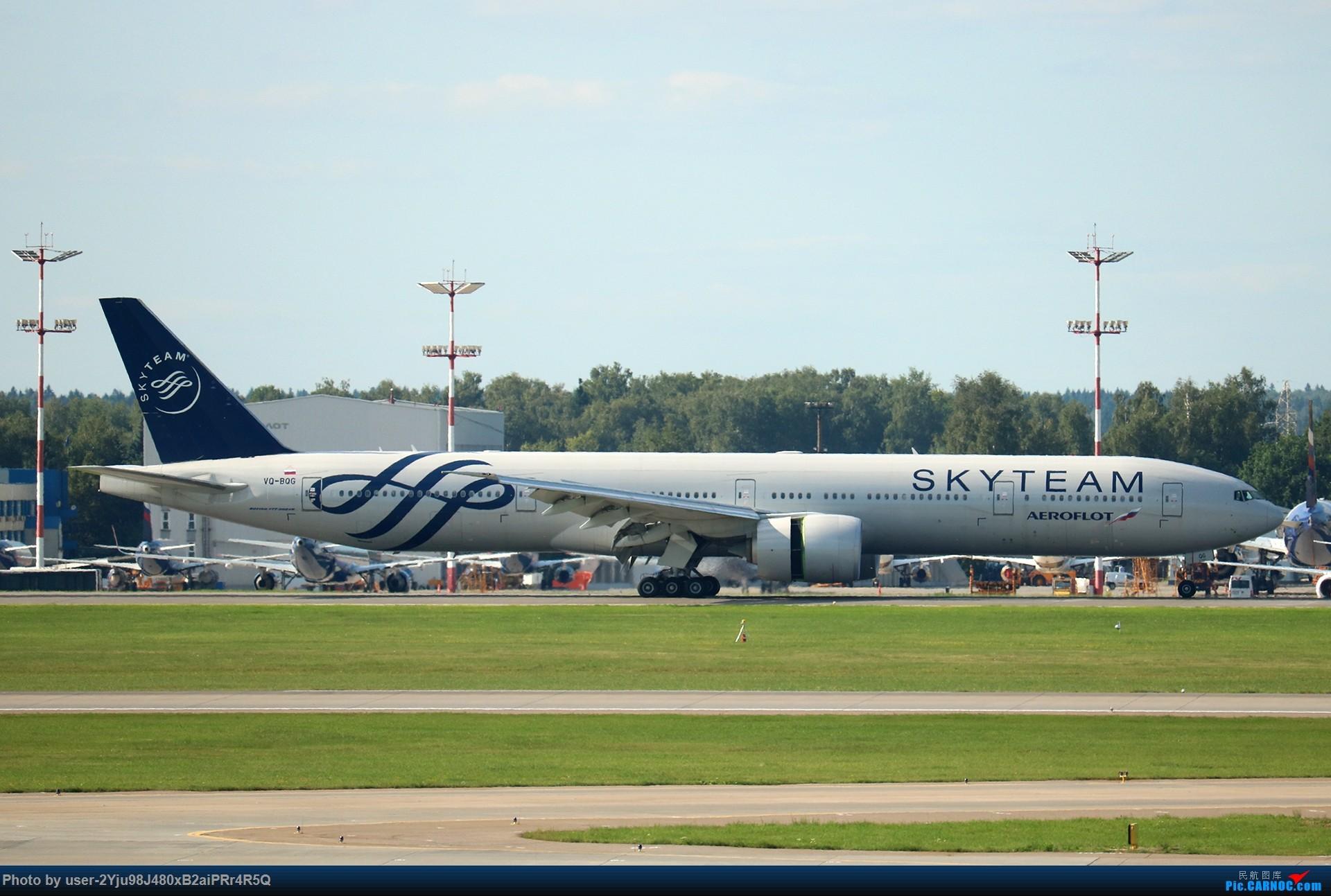 Re:[原创]LIULIU Sheremetyevo的漫游 Aeroflot毛航篇 BOEING 777-3MO(ER) VQ-BQG 俄罗斯谢诺梅杰沃机场