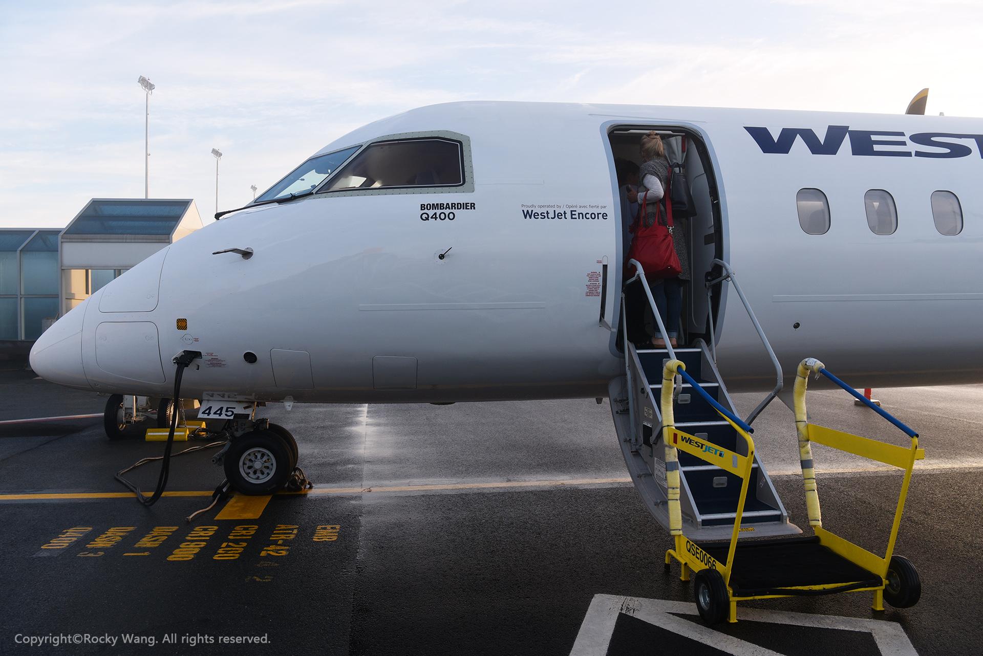 Re:[原创]简易版游记,纪念一次30段的环球飞行和一些碎碎念 BOMBARDIER DASH 8-Q402 C-GWEJ Halifax Int'l Airport