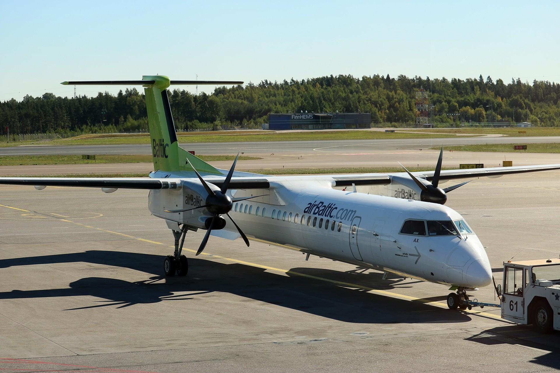 Re:[原创]LIULIU|一天两种机型三个国家四段航线五座城市的回家之路|西伯利亚上空的星光 DE HAVILLAND CANADA DHC-8-400 YL-BAX 芬兰赫尔辛基-万塔机场
