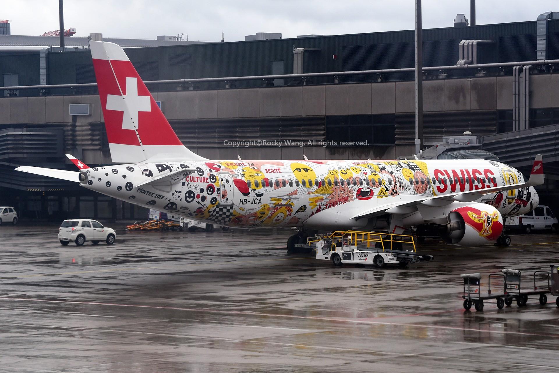 Re:[原创]简易版游记,纪念一次30段的环球飞行和一些碎碎念 BOMBARDIER CSERIES CS300 HB-JCA Zurich-Kloten Airport