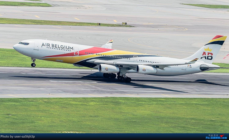 [原创]沙螺湾拍飞机起飞(香港) AIRBUS A340-313E OO-ABB 香港离岛区沙螺湾