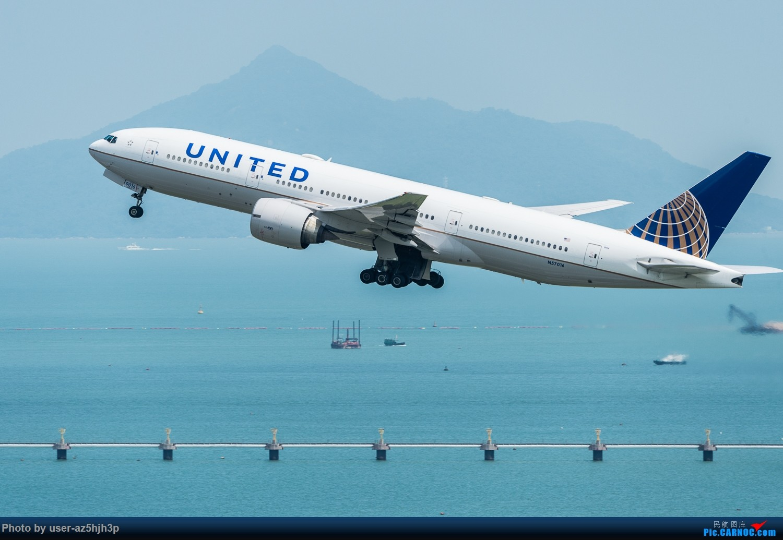Re:[原创]沙螺湾拍飞机起飞(香港) BOEING 777-200 N57016 香港沙螺湾