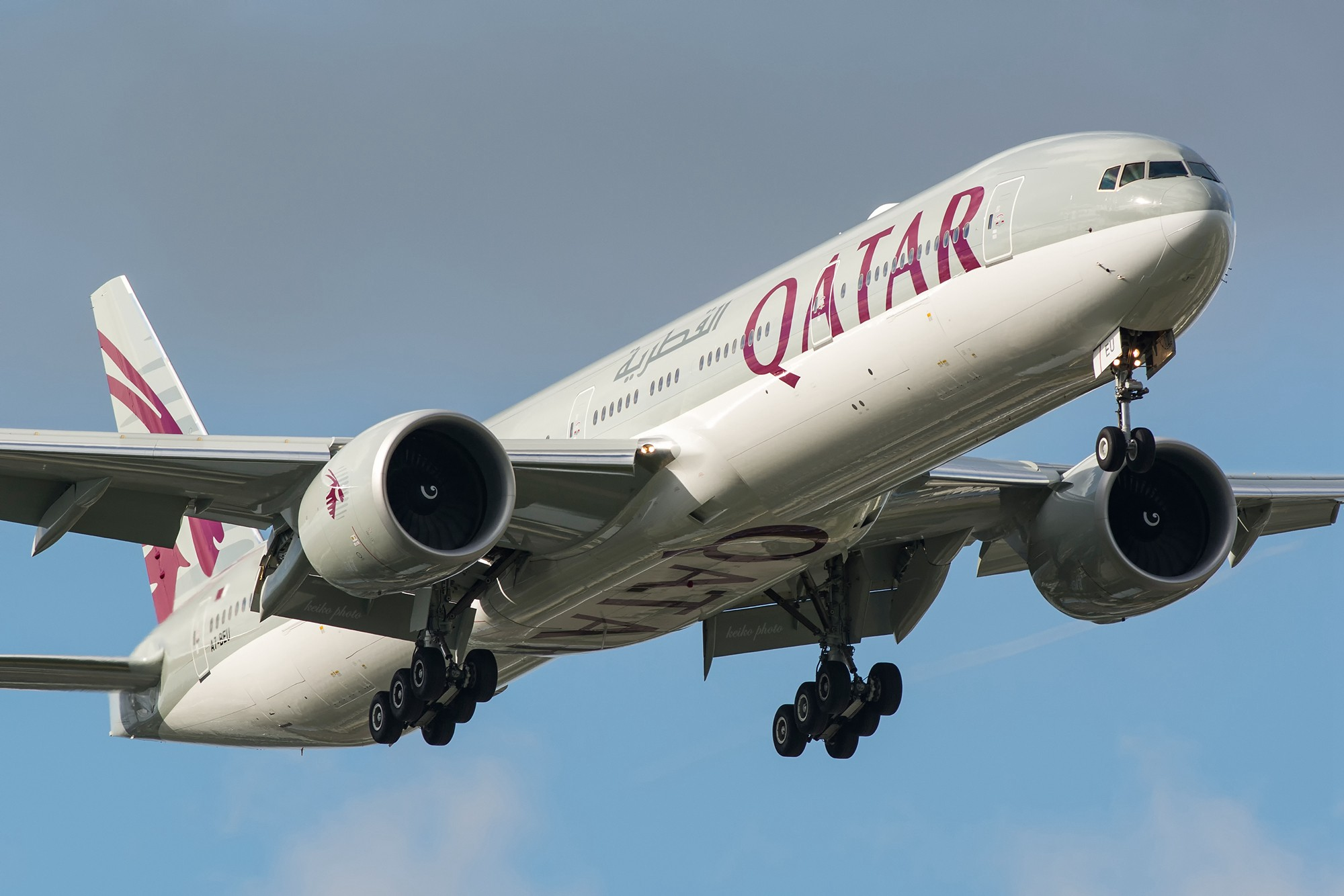 [原创]【PVG】一图党之卡塔尔77W泰山压顶 BOEING 777-300ER A7-BEU 中国上海浦东国际机场