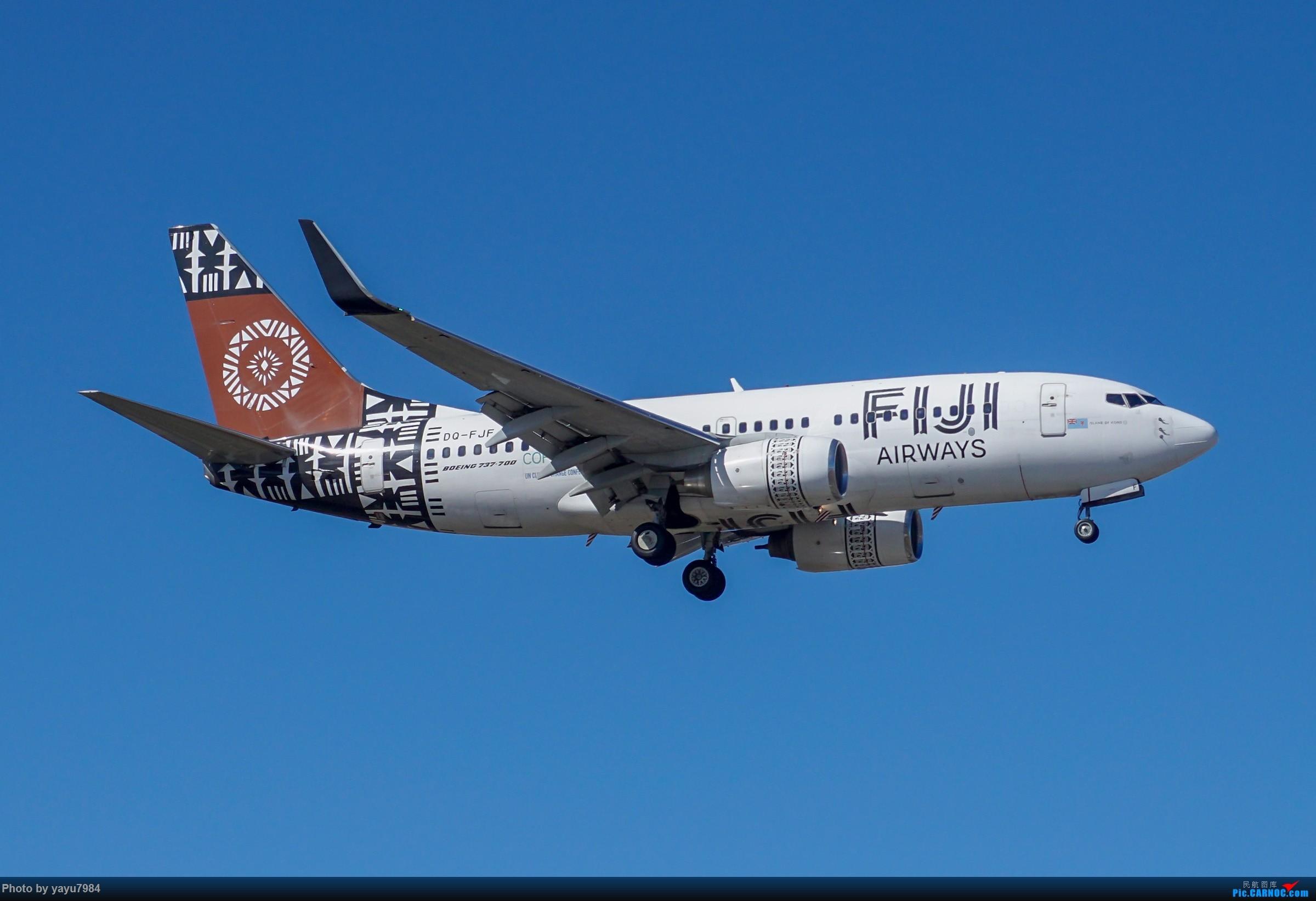Re:[原创][SYD] 25跑道头打卡,有幸收集到4架MU的A332 BOEING 737-700 DQ-FJF 澳大利亚悉尼金斯福德·史密斯机场