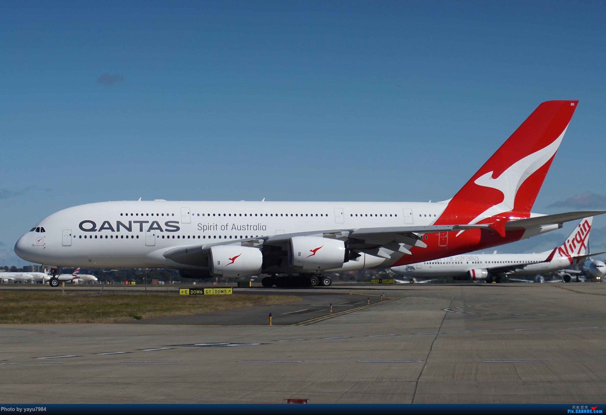 Re:[原创][SYD] 25跑道头打卡,有幸收集到4架MU的A332 AIRBUS A380-800 VH-OQG 澳大利亚悉尼金斯福德·史密斯机场