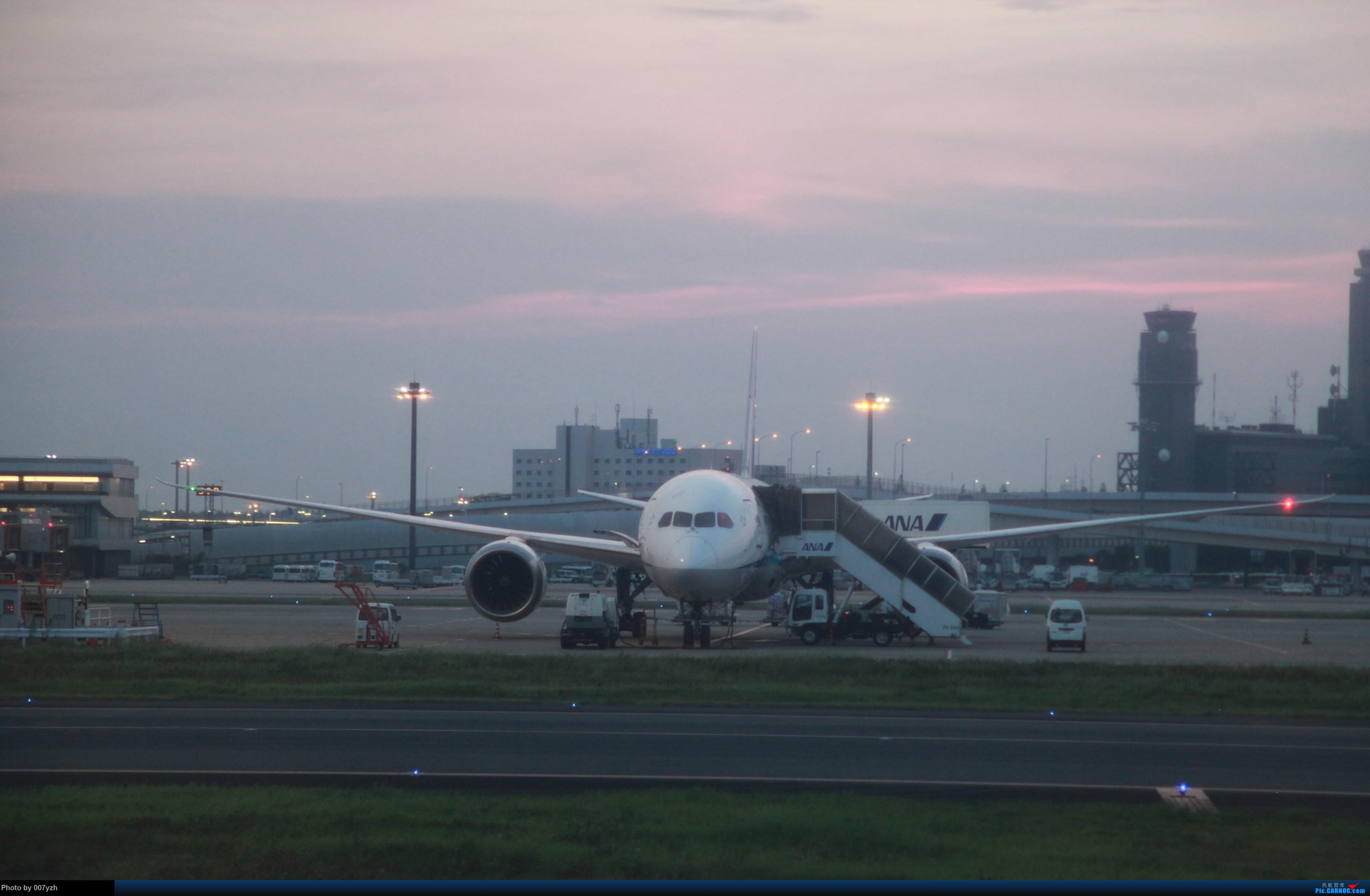 [原创][单图党]夕阳西下 BOEING 787-9  日本东京成田机场