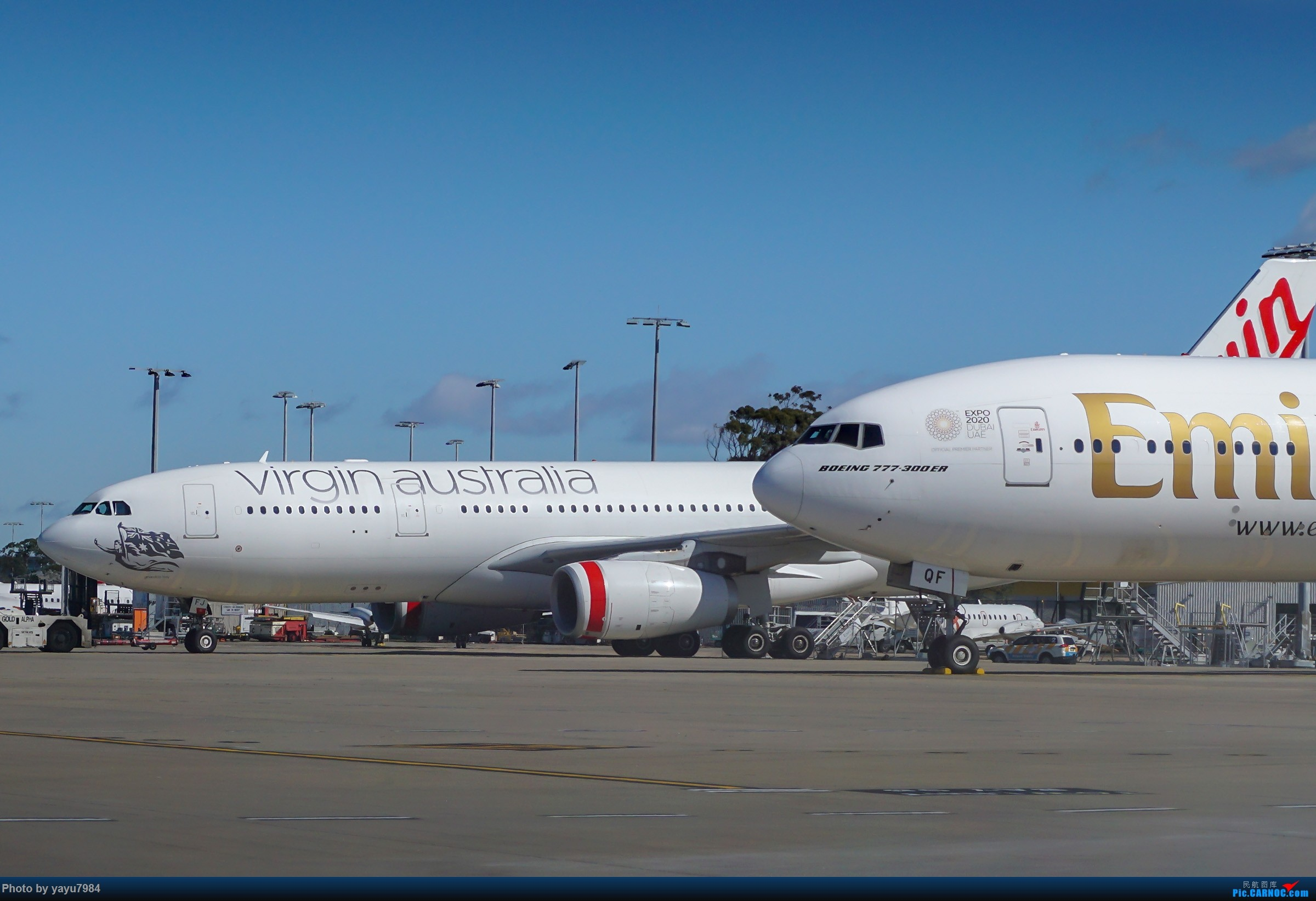 Re:[原创][SYD] 25跑道头打卡,有幸收集到4架MU的A332 BOEING 777-300ER A6-EQF 澳大利亚悉尼金斯福德·史密斯机场