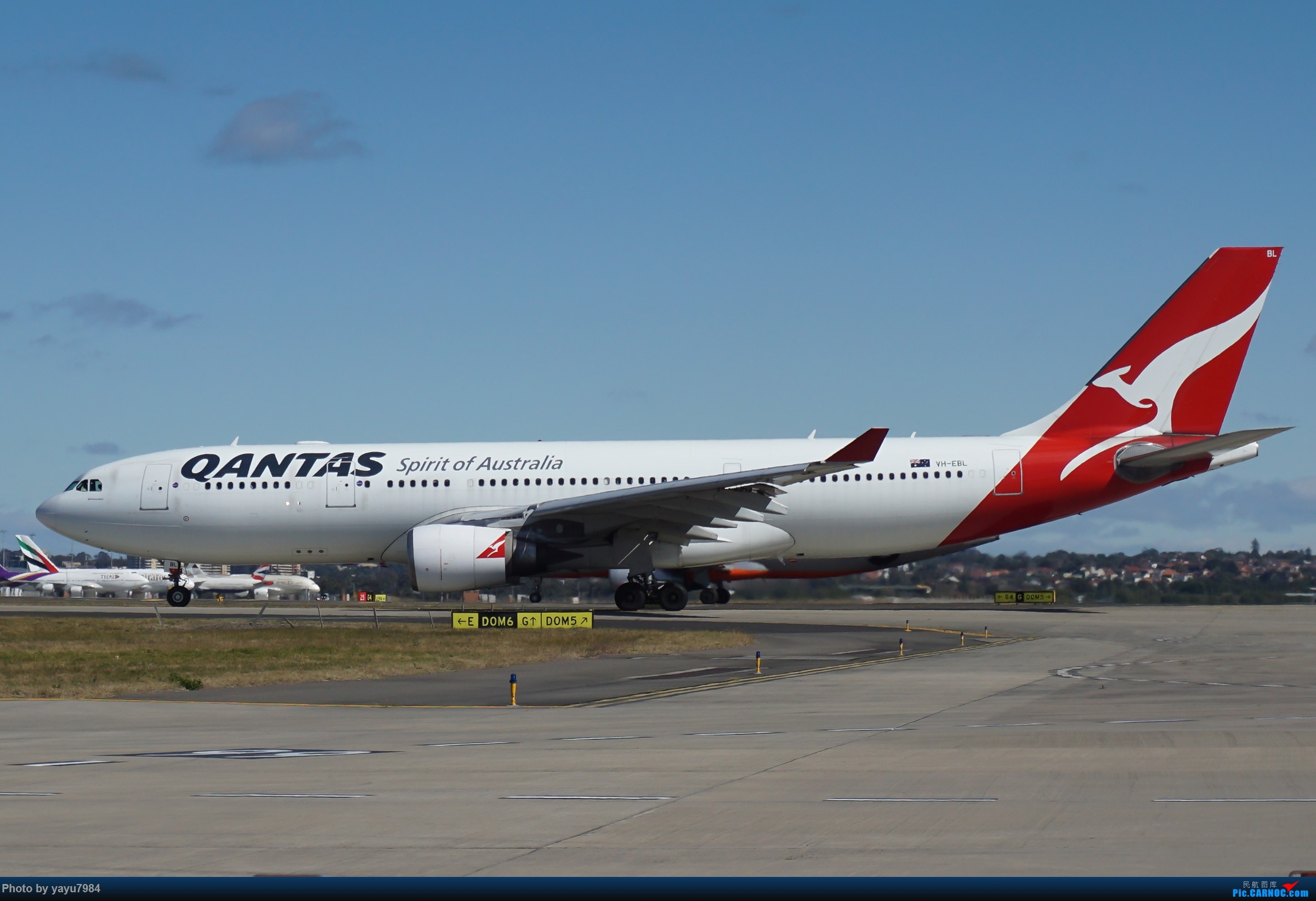 Re:[原创][SYD] 25跑道头打卡,有幸收集到4架MU的A332 AIRBUS A330-200 VH-EBL 澳大利亚悉尼金斯福德·史密斯机场