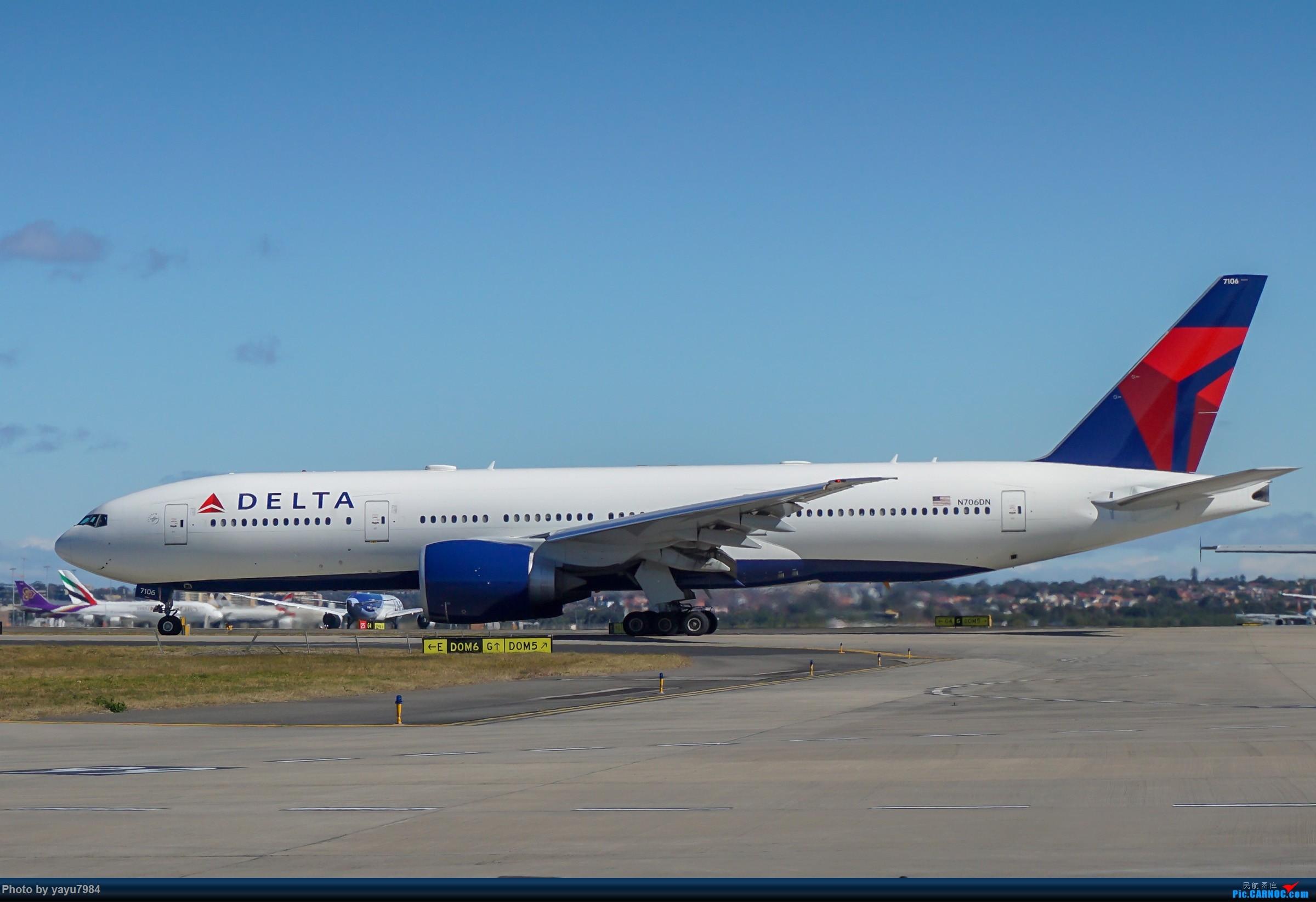 Re:[原创][SYD] 25跑道头打卡,有幸收集到4架MU的A332 BOEING 777-200LR N706DN 澳大利亚悉尼金斯福德·史密斯机场