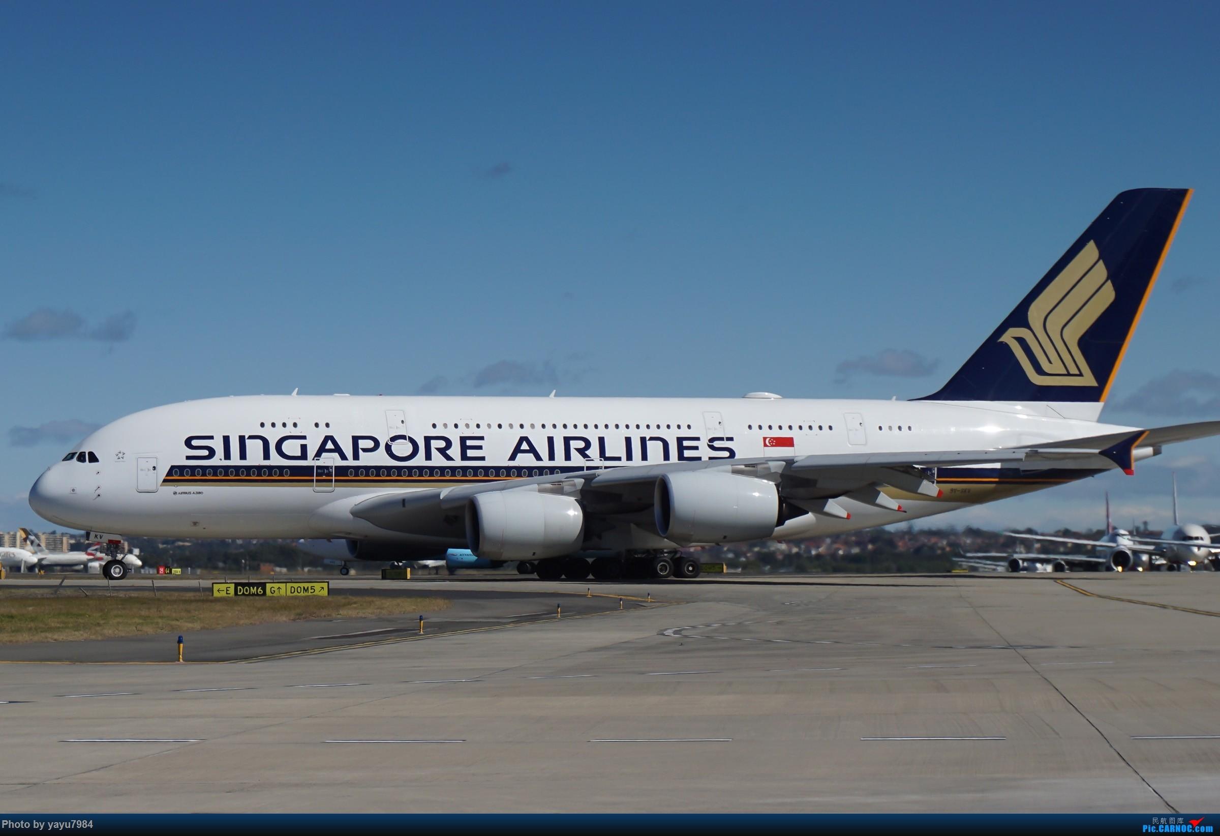 Re:[原创][SYD] 25跑道头打卡,有幸收集到4架MU的A332 AIRBUS A380-800 9V-SKV 澳大利亚悉尼金斯福德·史密斯机场