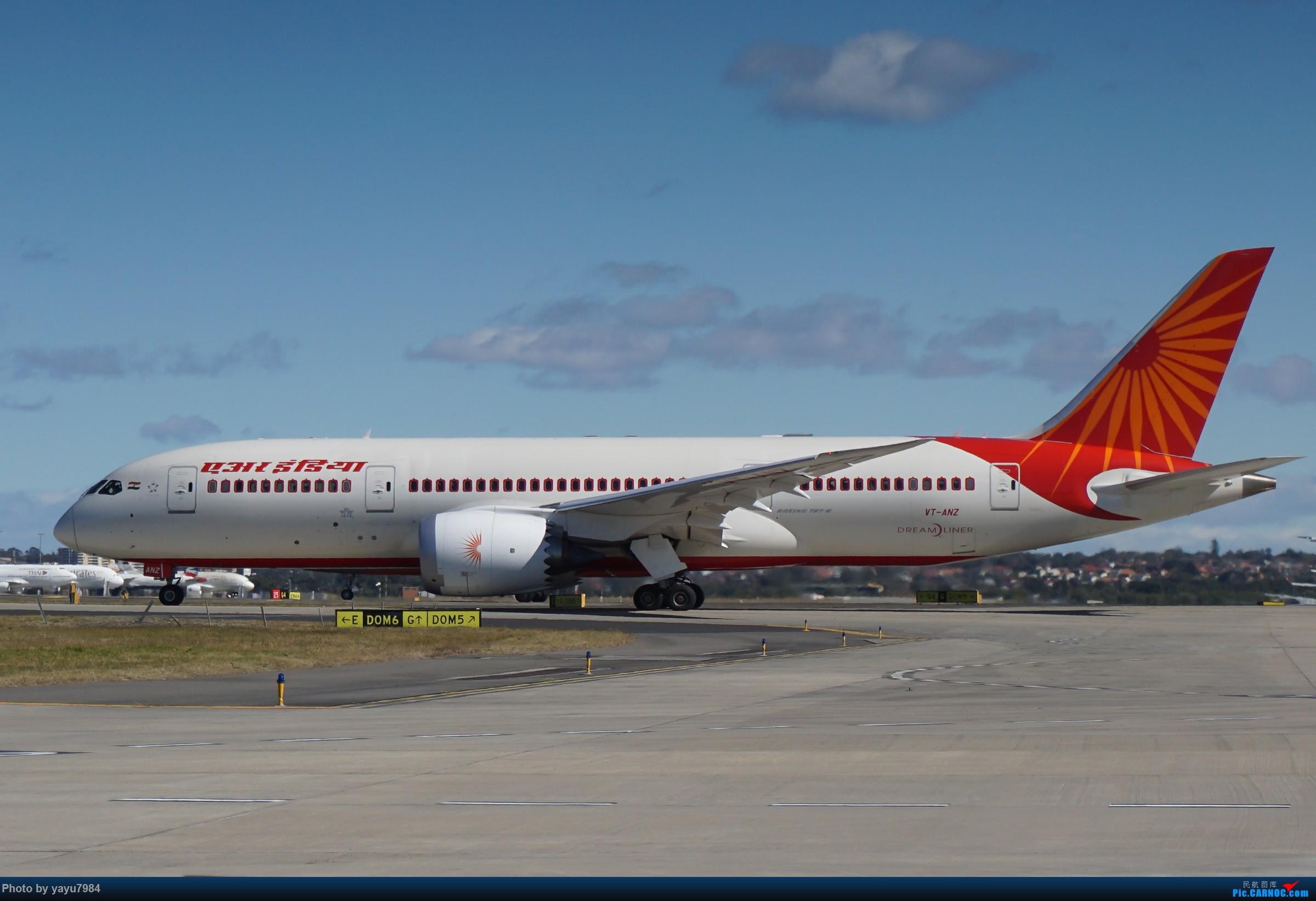 Re:[原创][SYD] 25跑道头打卡,有幸收集到4架MU的A332 BOEING 787-8 VT-ANZ 澳大利亚悉尼金斯福德·史密斯机场