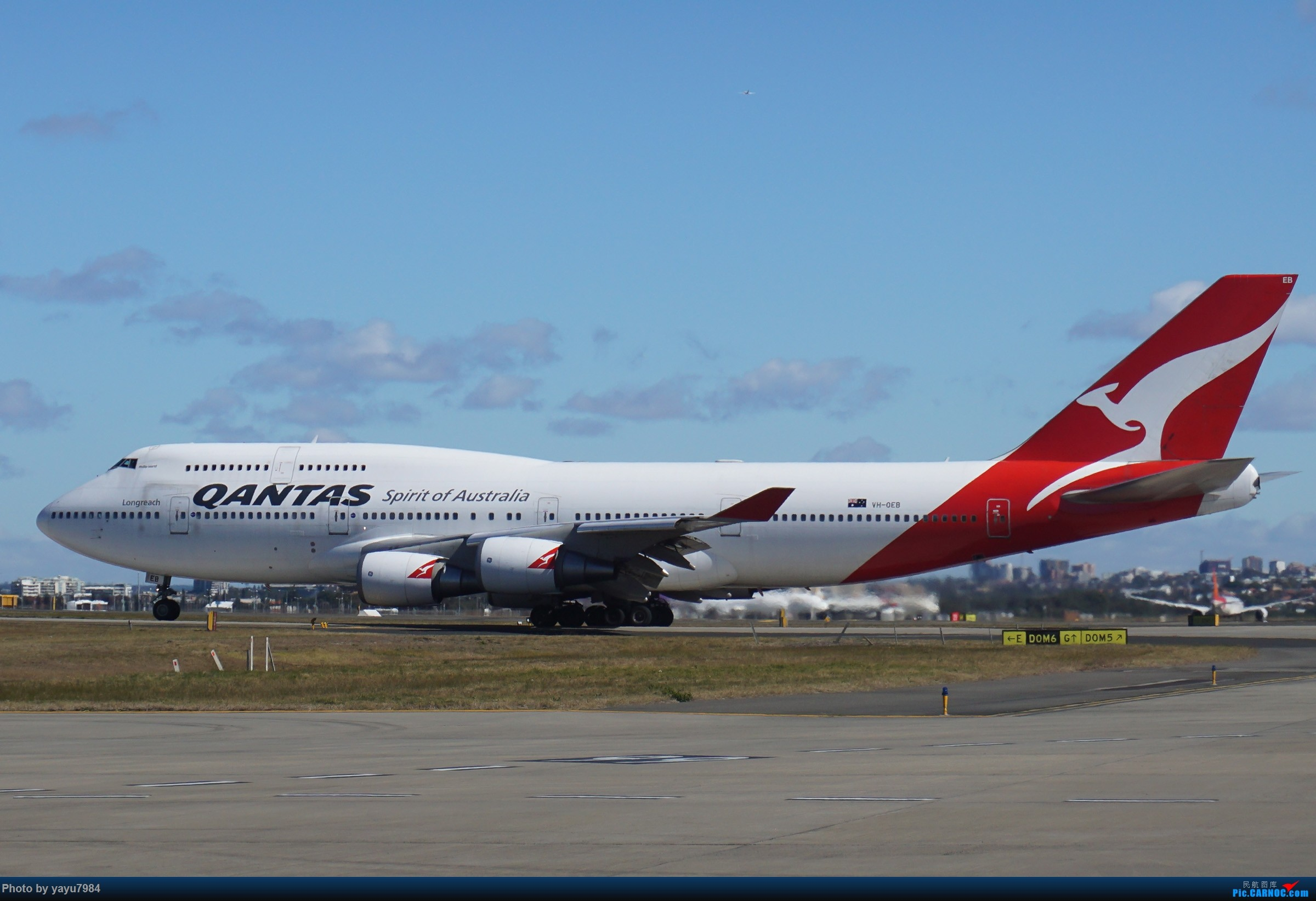 Re:[原创][SYD] 25跑道头打卡,有幸收集到4架MU的A332 BOEING 747-400 VH-OEB 澳大利亚悉尼金斯福德·史密斯机场