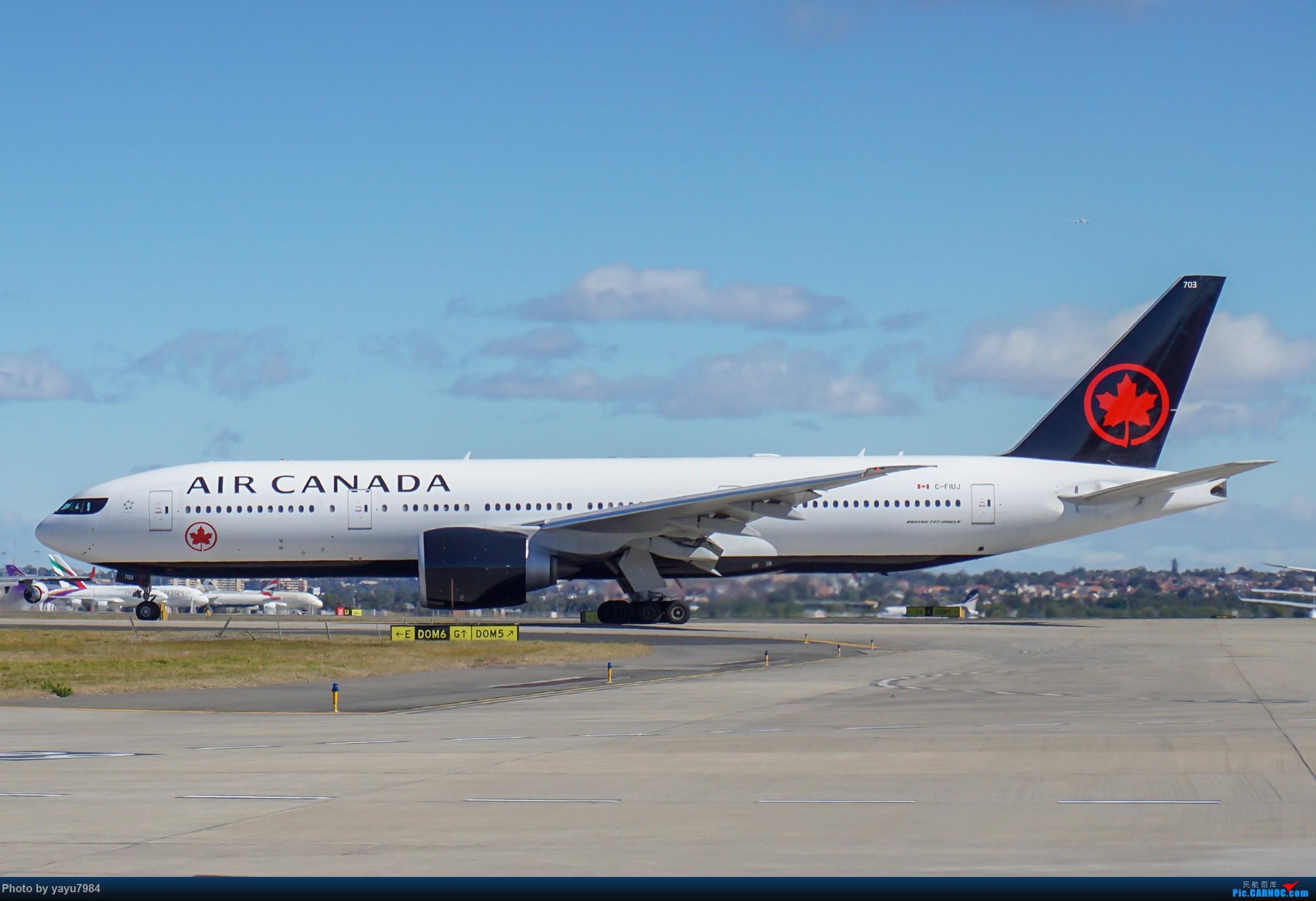 Re:[原创][SYD] 25跑道头打卡,有幸收集到4架MU的A332 BOEING 777-200LR C-FIUJ 澳大利亚悉尼金斯福德·史密斯机场