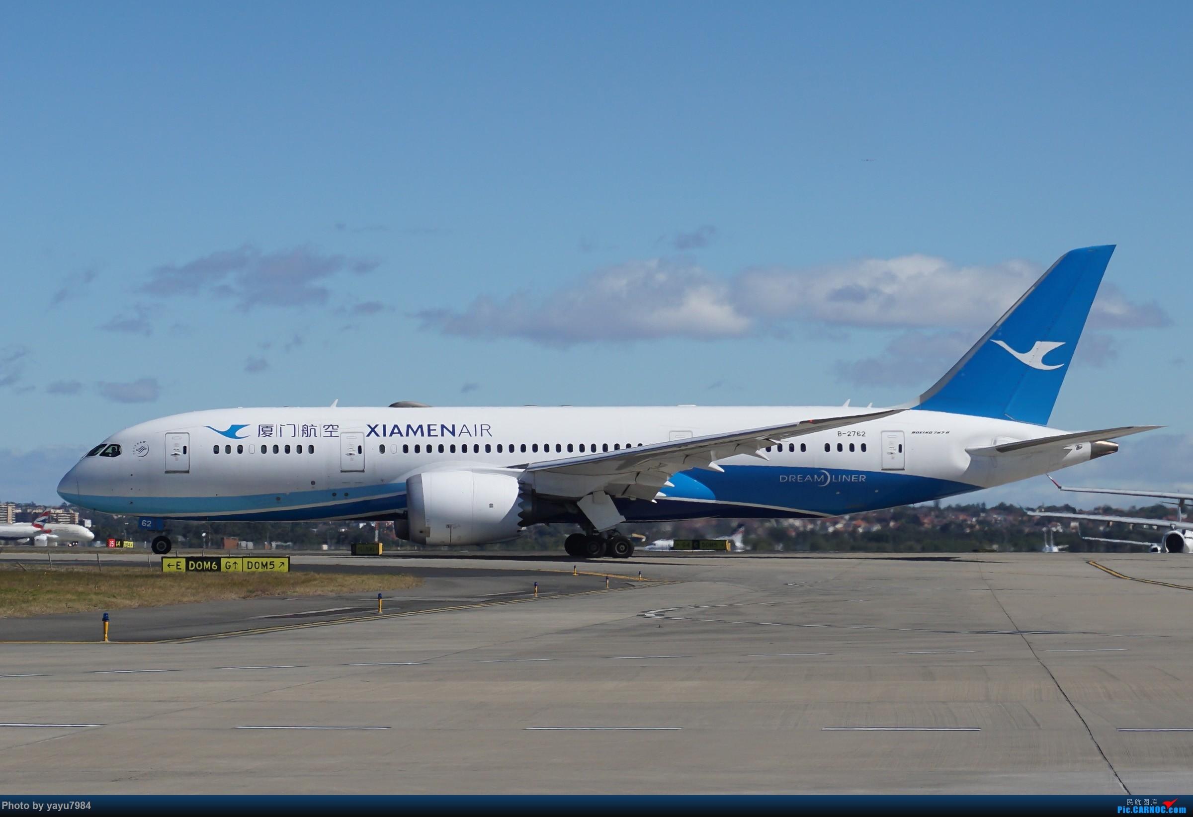 Re:[原创][SYD] 25跑道头打卡,有幸收集到4架MU的A332 BOEING 787-8 B-2762 澳大利亚悉尼金斯福德·史密斯机场
