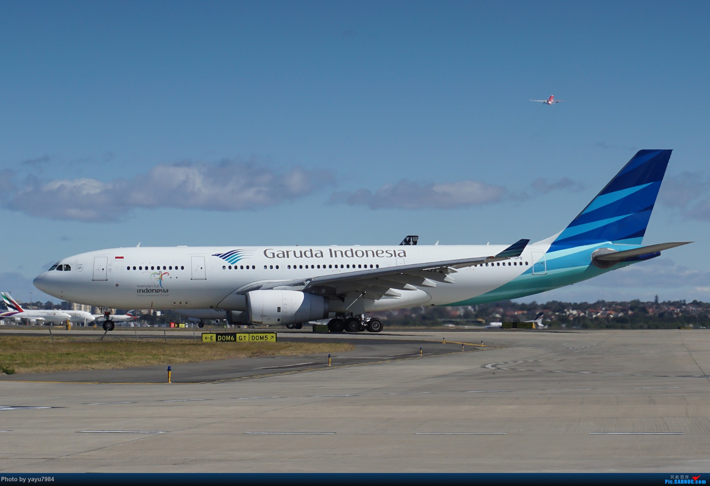 Re:[原创][SYD] 25跑道头打卡,有幸收集到4架MU的A332 AIRBUS A330-200 PK-GPQ 澳大利亚悉尼金斯福德·史密斯机场