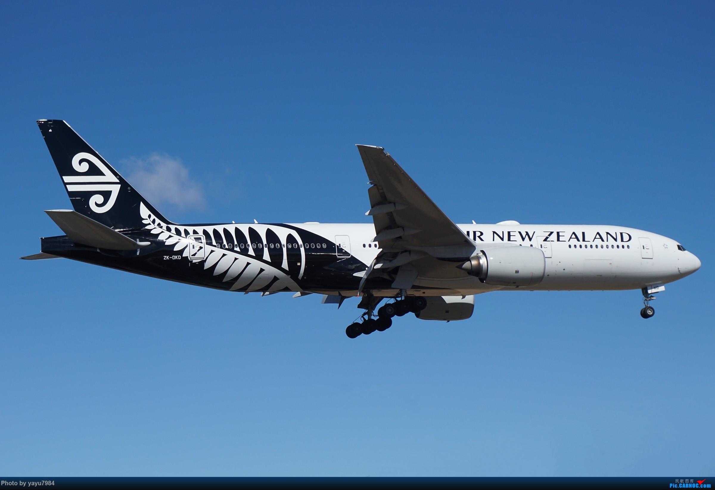 Re:[原创][SYD] 25跑道头打卡,有幸收集到4架MU的A332 BOEING 777-200ER ZK-OKD 澳大利亚悉尼金斯福德·史密斯机场