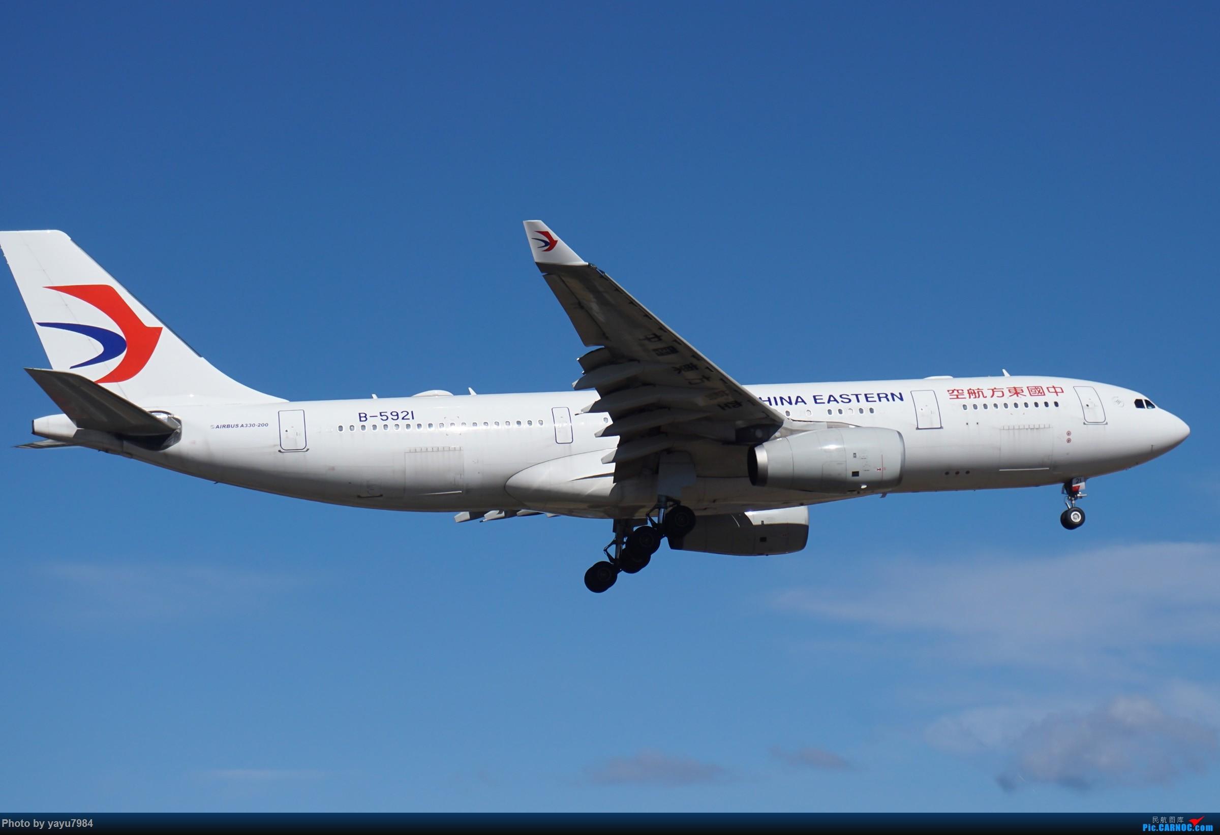 Re:[原创][SYD] 25跑道头打卡,有幸收集到4架MU的A332 AIRBUS A330-200 B-5921 澳大利亚悉尼金斯福德·史密斯机场