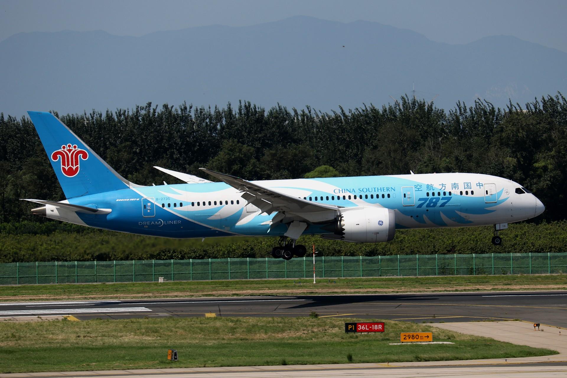 Re:[原创]LIULIU|【PEK】36L降落一组Ⅱ|B家重型机 BOEING 787-8 B-2735 中国北京首都国际机场