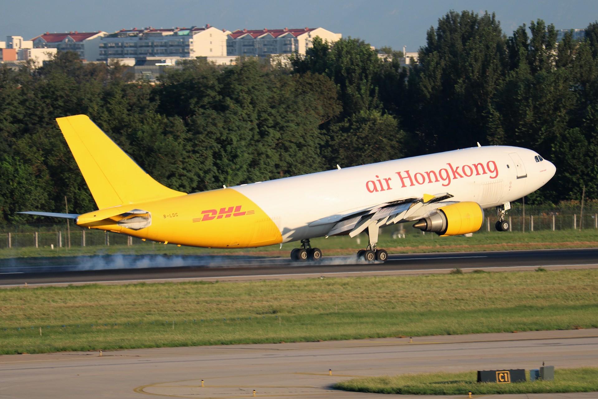 [原创]LIULIU|【PEK】36L降落一组Ⅳ|擦烟 AIRBUS A300F4-600R B-LDC 中国北京首都国际机场
