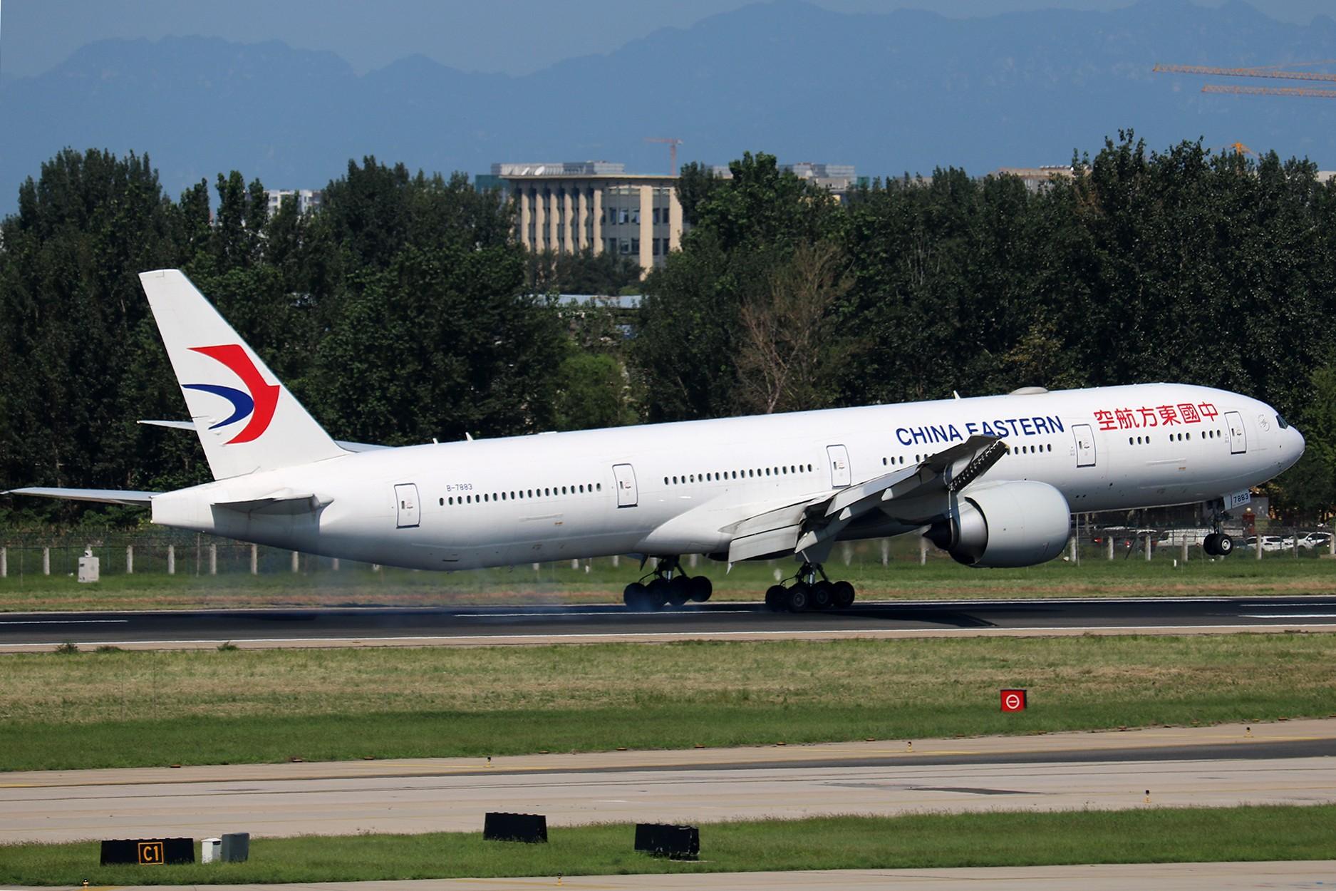 Re:[原创]LIULIU|【PEK】36L降落一组Ⅳ|擦烟 BOEING 777-300ER B-7883 中国北京首都国际机场