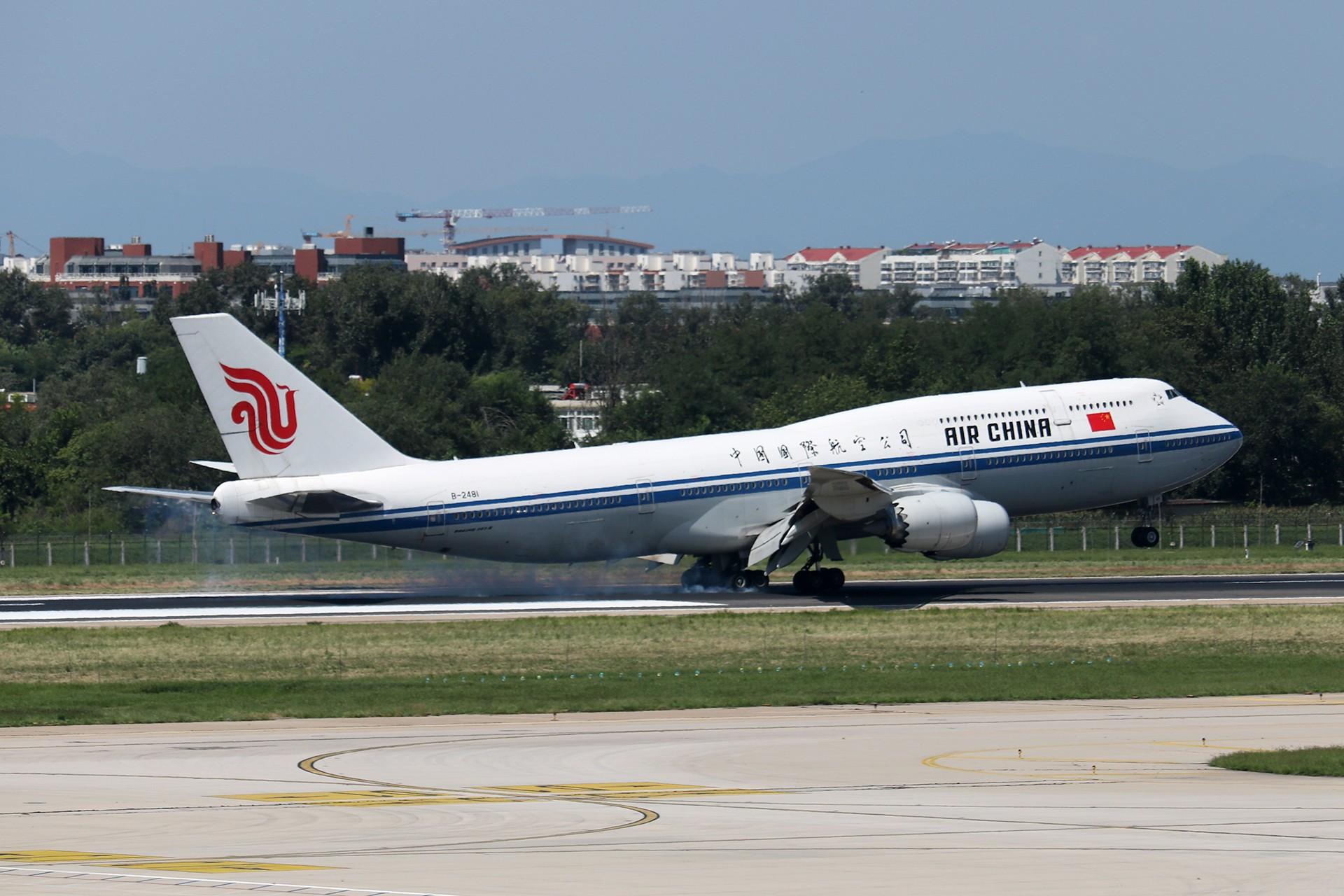 Re:[原创]LIULIU|【PEK】36L降落一组Ⅳ|擦烟 BOEING 747-8I B-2481 中国北京首都国际机场