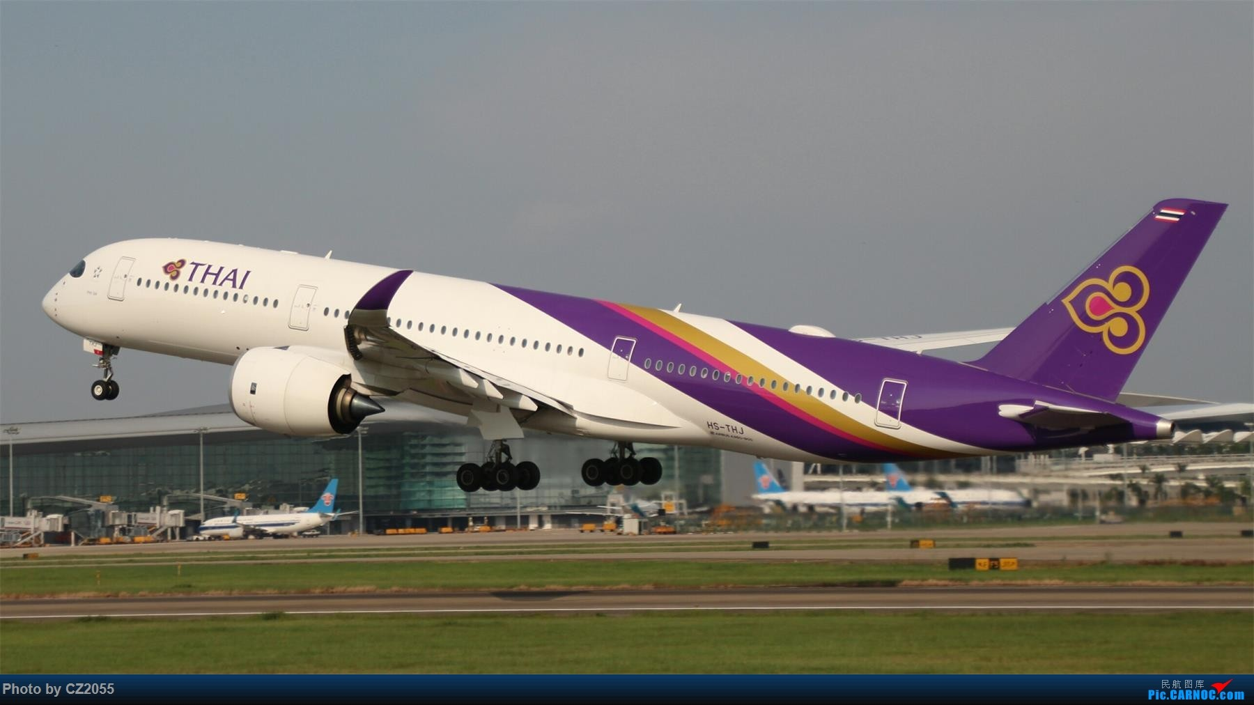 Re:[原创][原创]【CZ2055】【CAN】新镜头试镜。 AIRBUS A350-900 HS-THJ 中国广州白云国际机场