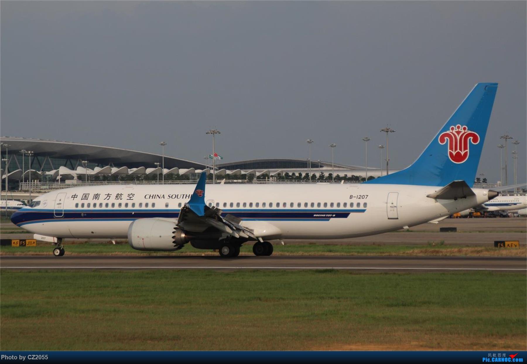 Re:[原创][原创]【CZ2055】【CAN】新镜头试镜。 BOEING 737MAX-8 B-1207 中国广州白云国际机场