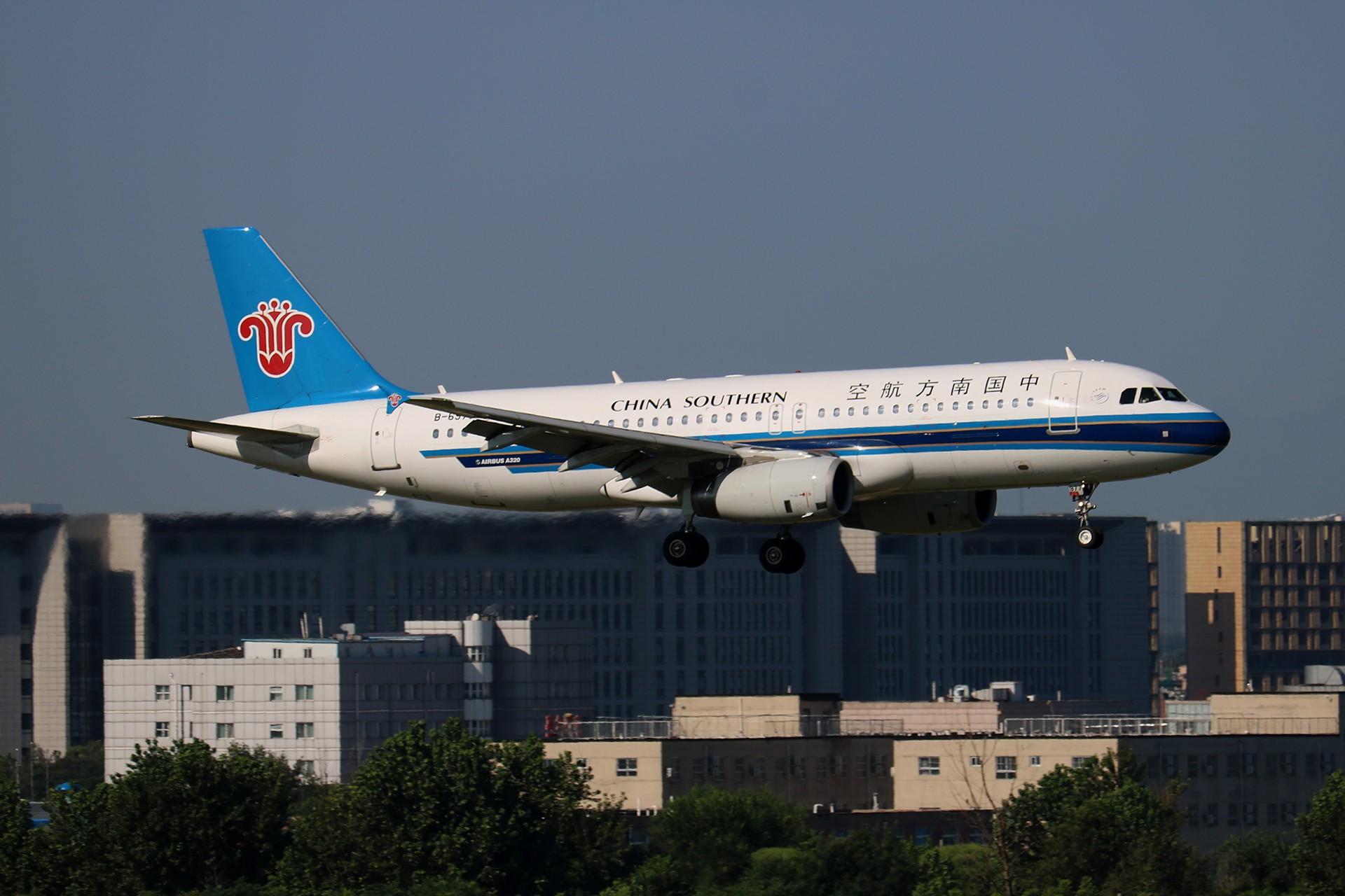 Re:[原创]LIULIU|【PEK】36L降落一组Ⅴ|城市背景下的进近 AIRBUS A320-200 B-6977 中国北京首都国际机场