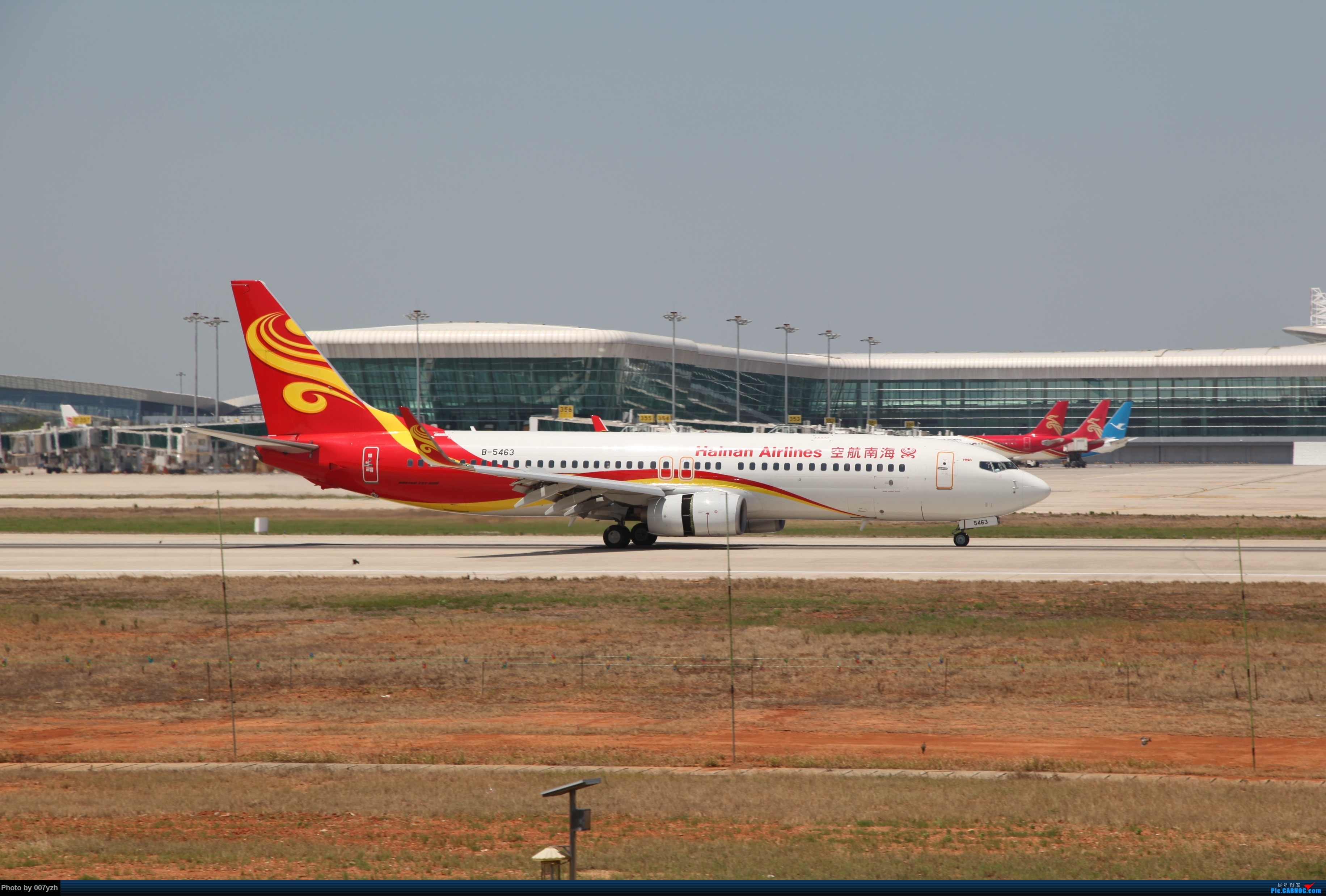 Re:[原创]奔着南航789来的武汉04R跑道拍机 BOEING 737-800 B-5463 中国武汉天河国际机场