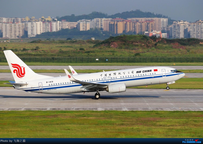 Re:[原创]CKG拍机(海航熊大,国航7M8,反正就是今天搞着了) BOEING 737-800 B-1419 重庆江北国际机场