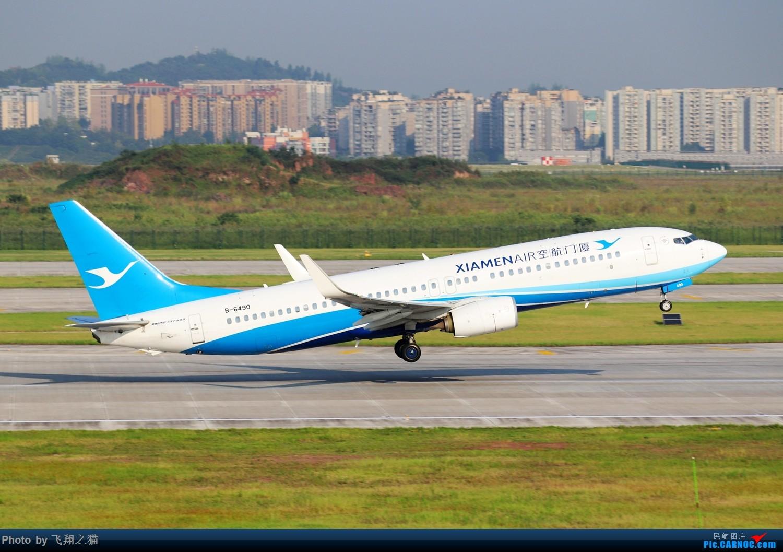 Re:[原创]CKG拍机(海航熊大,国航7M8,反正就是今天搞着了) BOEING 737-800 B-6490 重庆江北国际机场