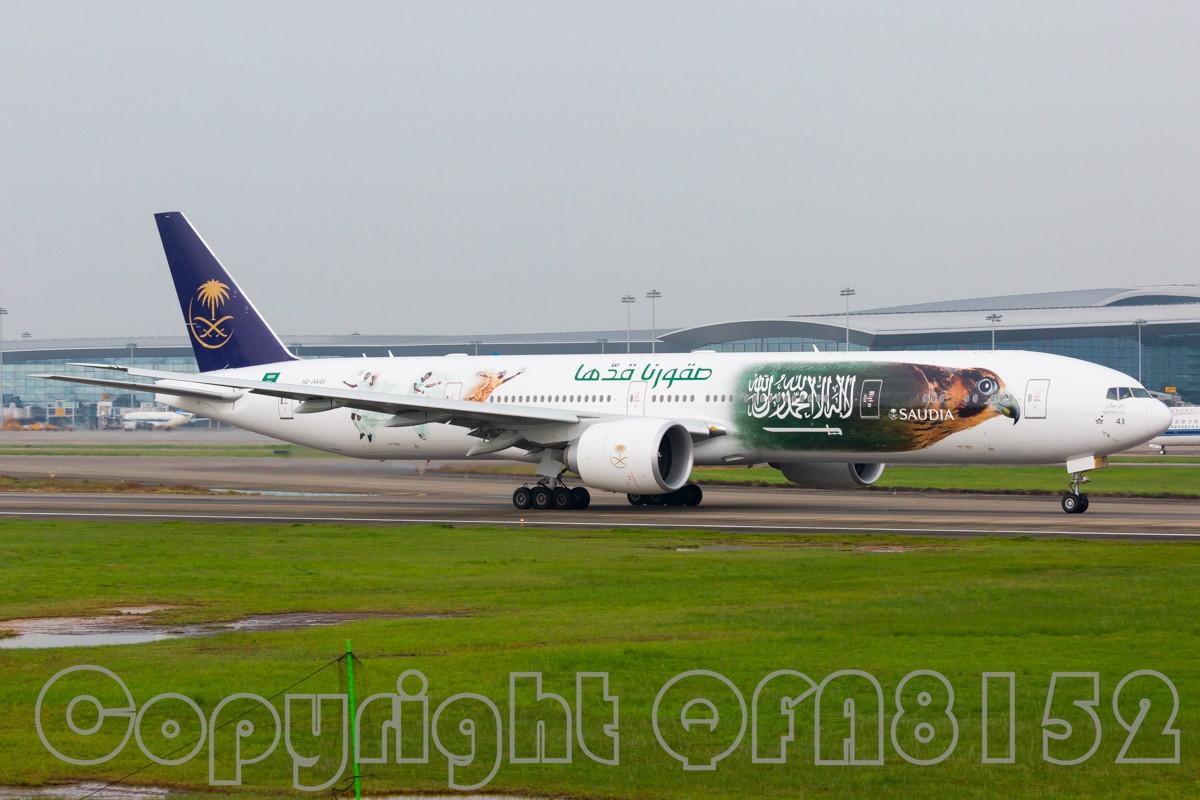 [原创]好货一般都是在人少的地方突围的 BOEING 777-300ER HZ-AK43 中国广州白云国际机场