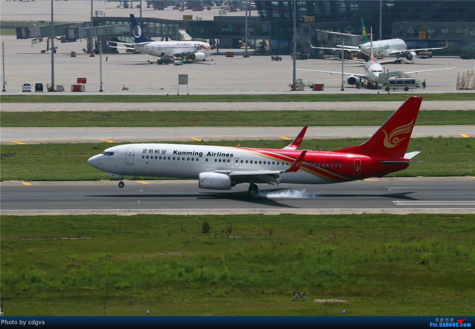 Re:[原创]【KMG】长水机场一组 1600大图 BOEING 737-800 B-6491 中国昆明长水国际机场