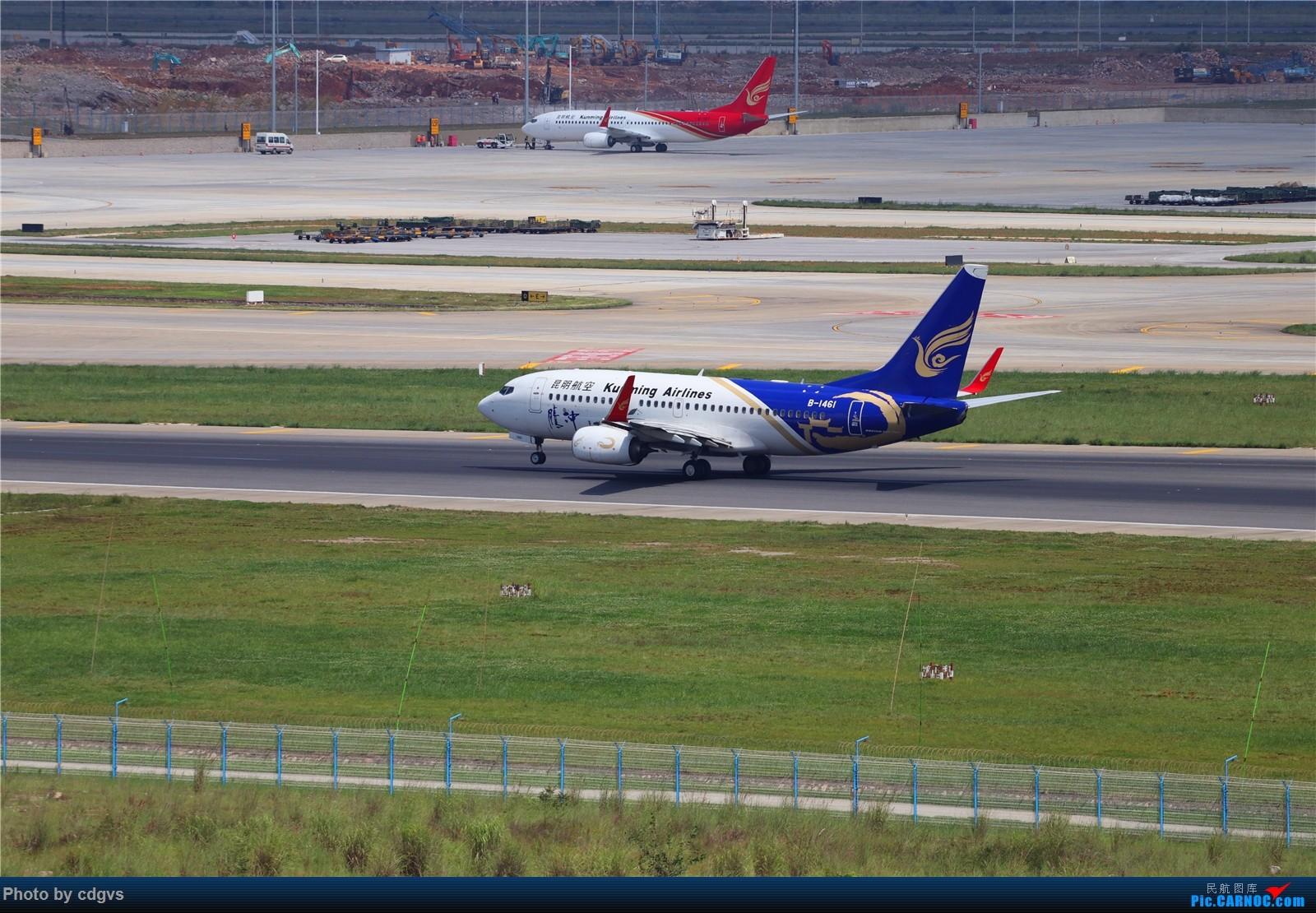 Re:[原创]【KMG】长水机场一组 1600大图 BOEING 737-700 B-1461 中国昆明长水国际机场
