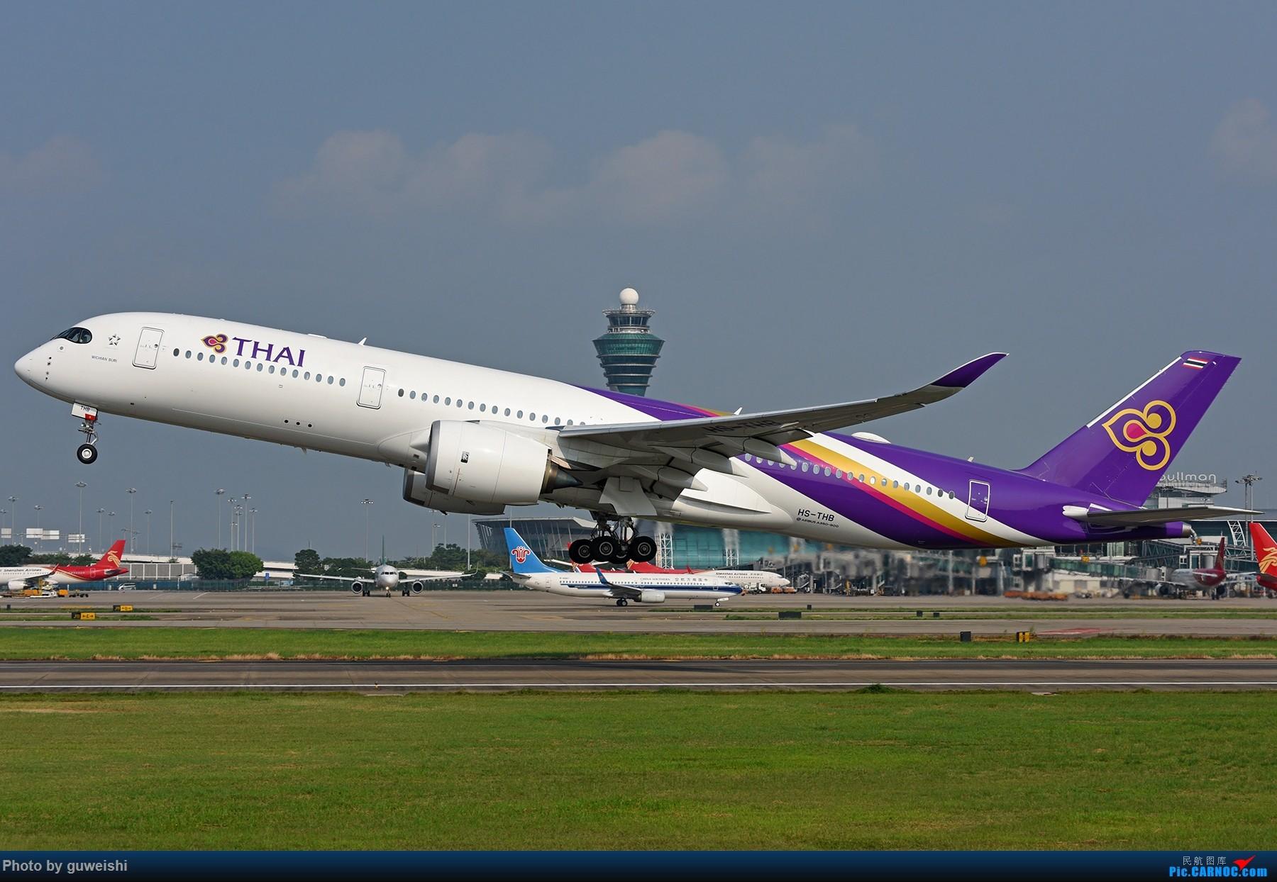 Re:【早师傅出品】--泰美丽350白云起飞 AIRBUS A350-900 HS-THB 中国广州白云国际机场