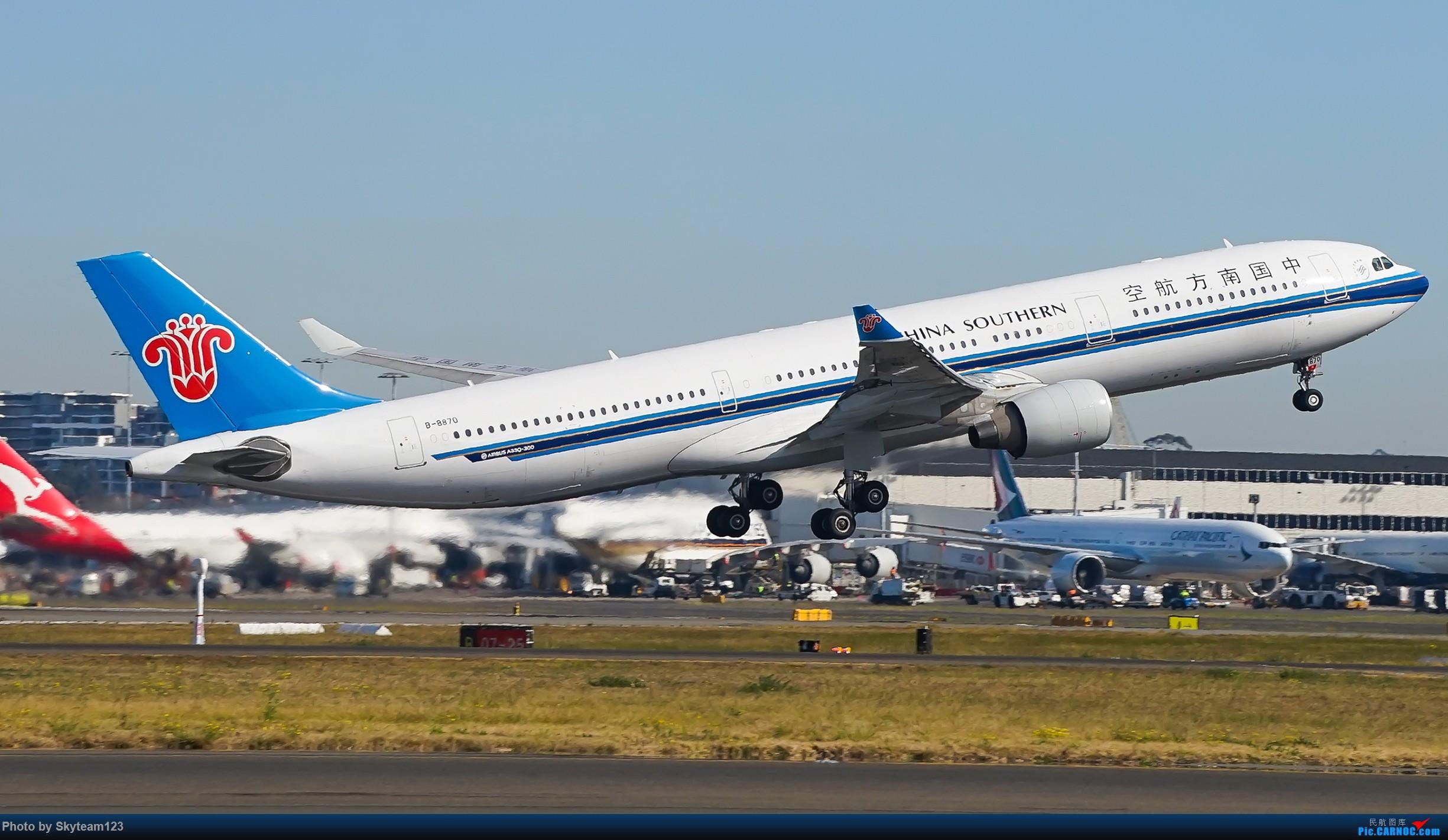 Re:[原创][SYD] 再访Blu EMU停车场 早上34L抵港出发杂图几张 AIRBUS A330-300 B-8870 澳大利亚悉尼金斯福德·史密斯机场