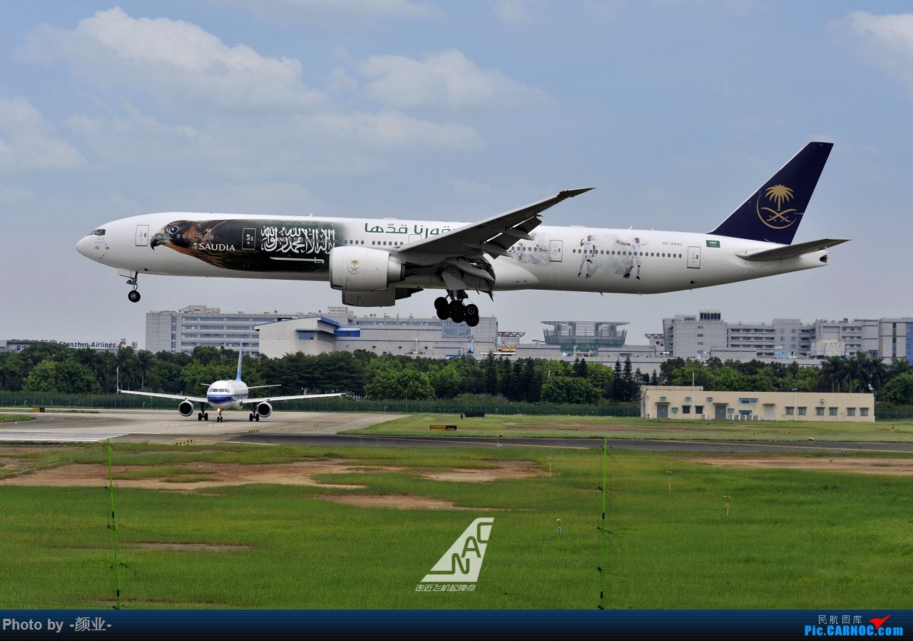 Re:[原创]走近飞机起降点(无尽创意) BOEING 777-300 HZ-AK43 中国广州白云国际机场