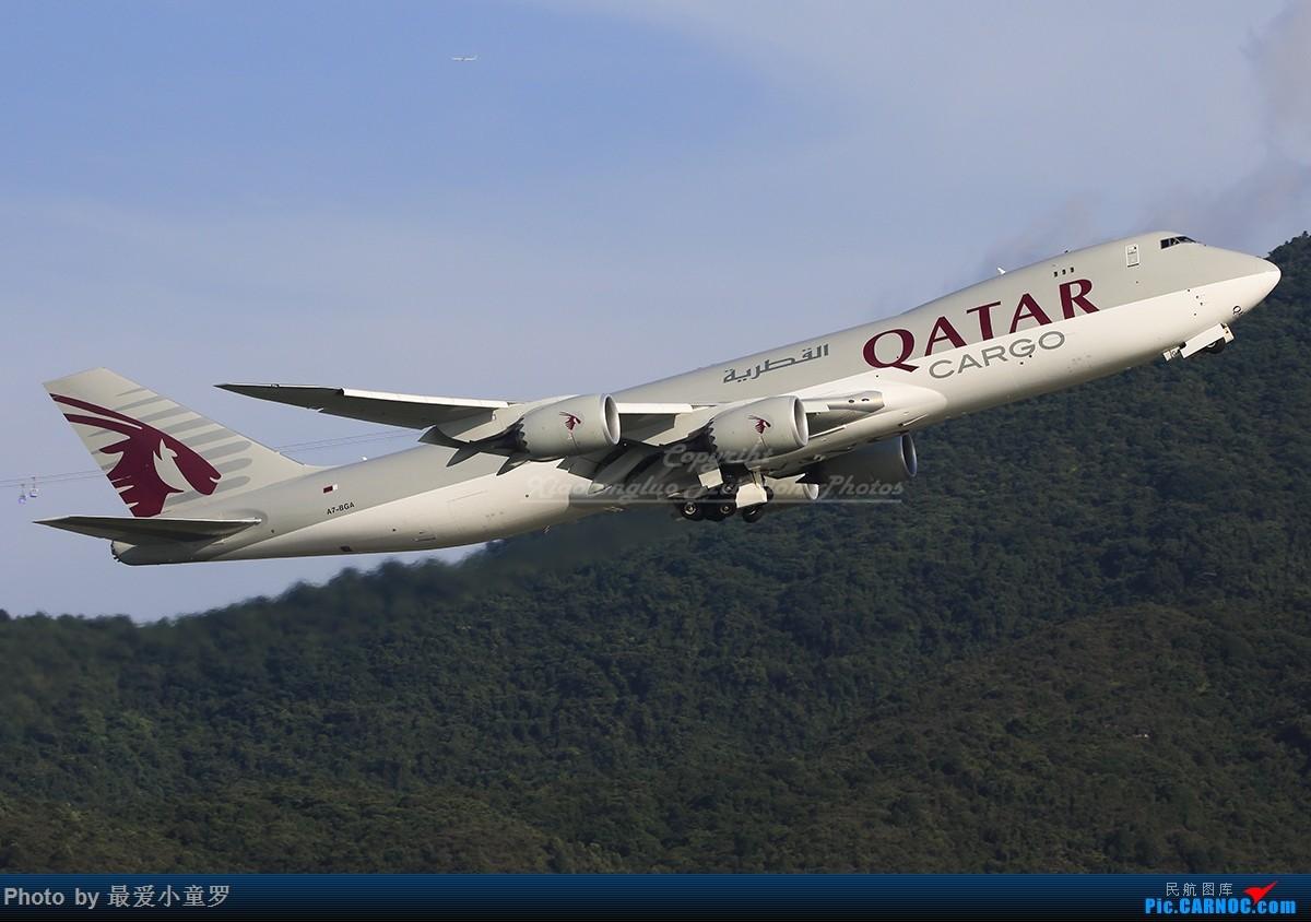 [原创]卡塔尔货运波音747-8F机队 BOEING 747-8F A7-BGA 中国香港国际机场