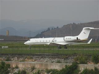 Re:【KWE】贵阳机场拍难得一见的公务机
