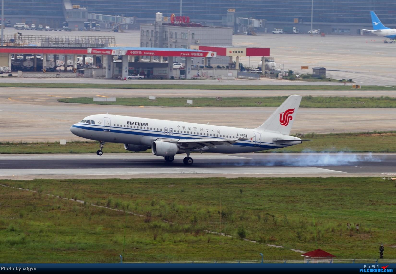 [原创][原创]【KMG】擦烟一组 AIRBUS A320-200 B-6828 中国昆明长水国际机场