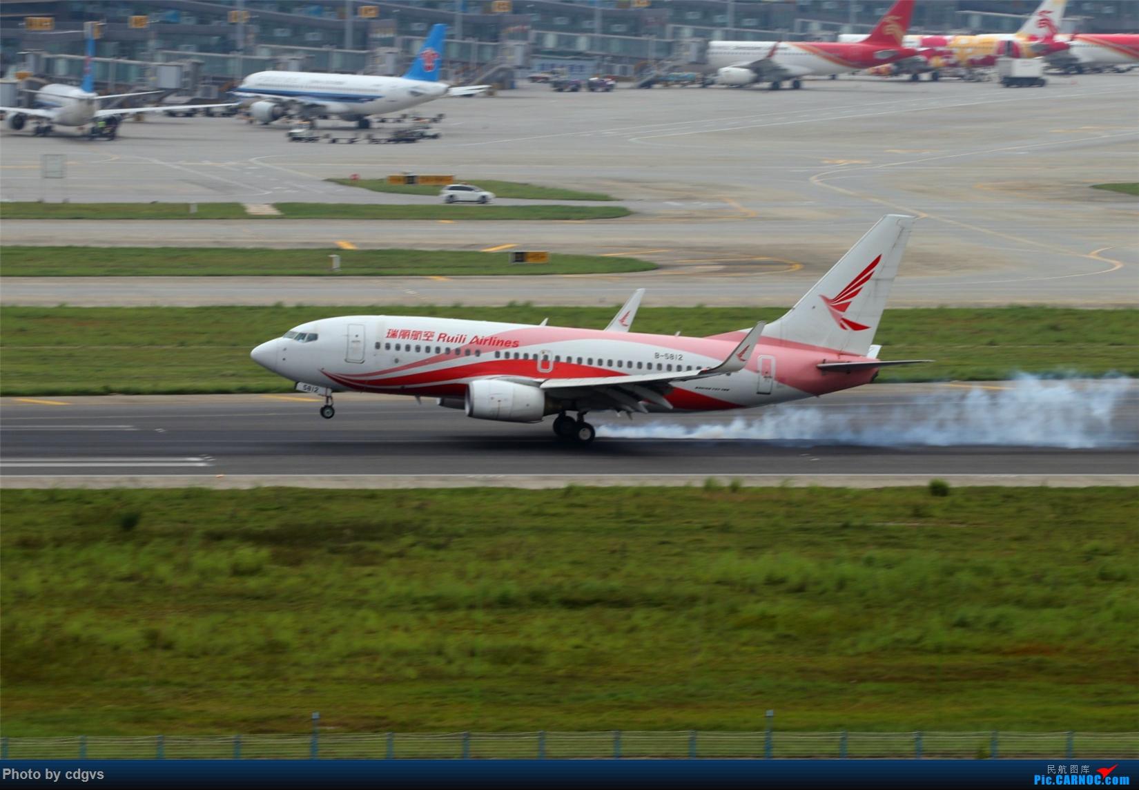 Re:[原创][原创]【KMG】擦烟一组 BOEING 737-700 B-5812 中国昆明长水国际机场