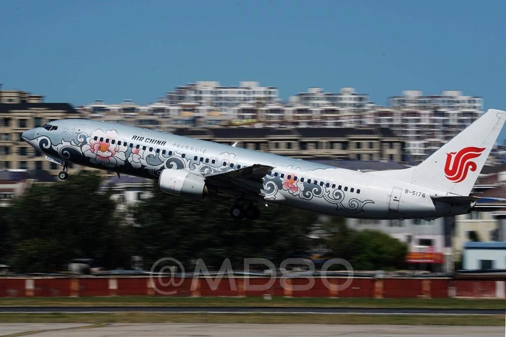 Re:[原创][DLC内场] 今天的DLC有7-8级风 BOEING 737-800 B-5176 中国大连国际机场