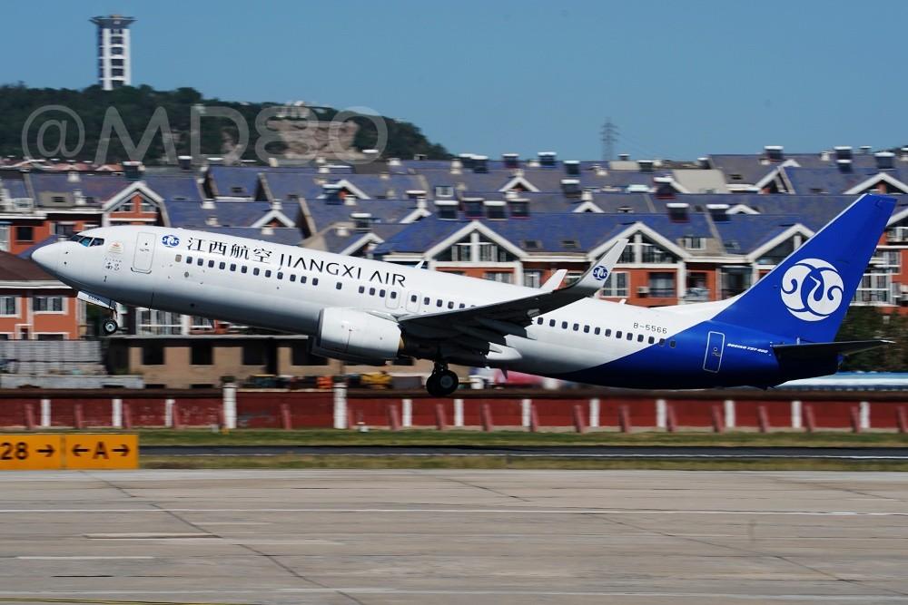 Re:[原创][DLC内场] 今天的DLC有7-8级风 BOEING 737-800 B-5566 中国大连国际机场