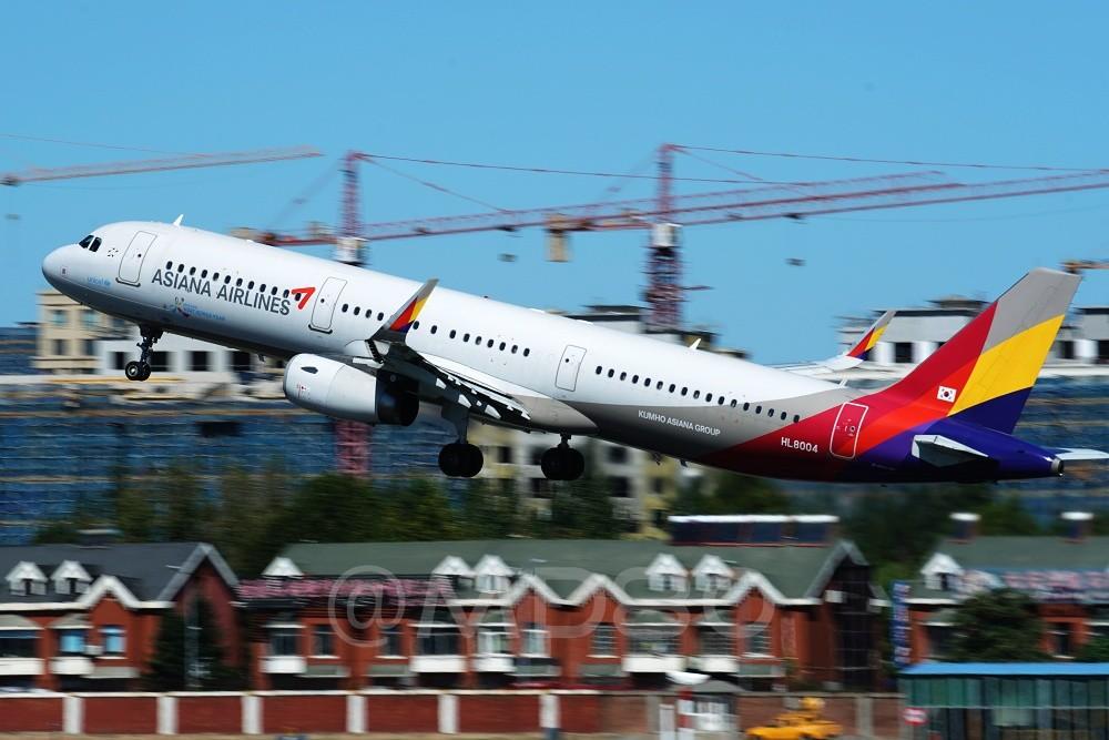Re:[原创][DLC内场] 今天的DLC有7-8级风 AIRBUS A321 HL8004 中国大连国际机场