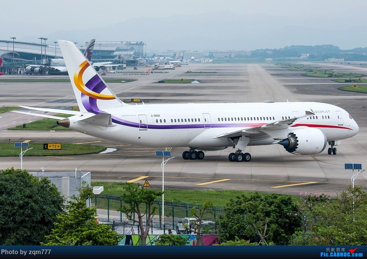 【二图党】金鹿公务787BBJ 2-DEER第二次光临广州! BOEING 787-8 2-DEER 中国广州白云国际机场