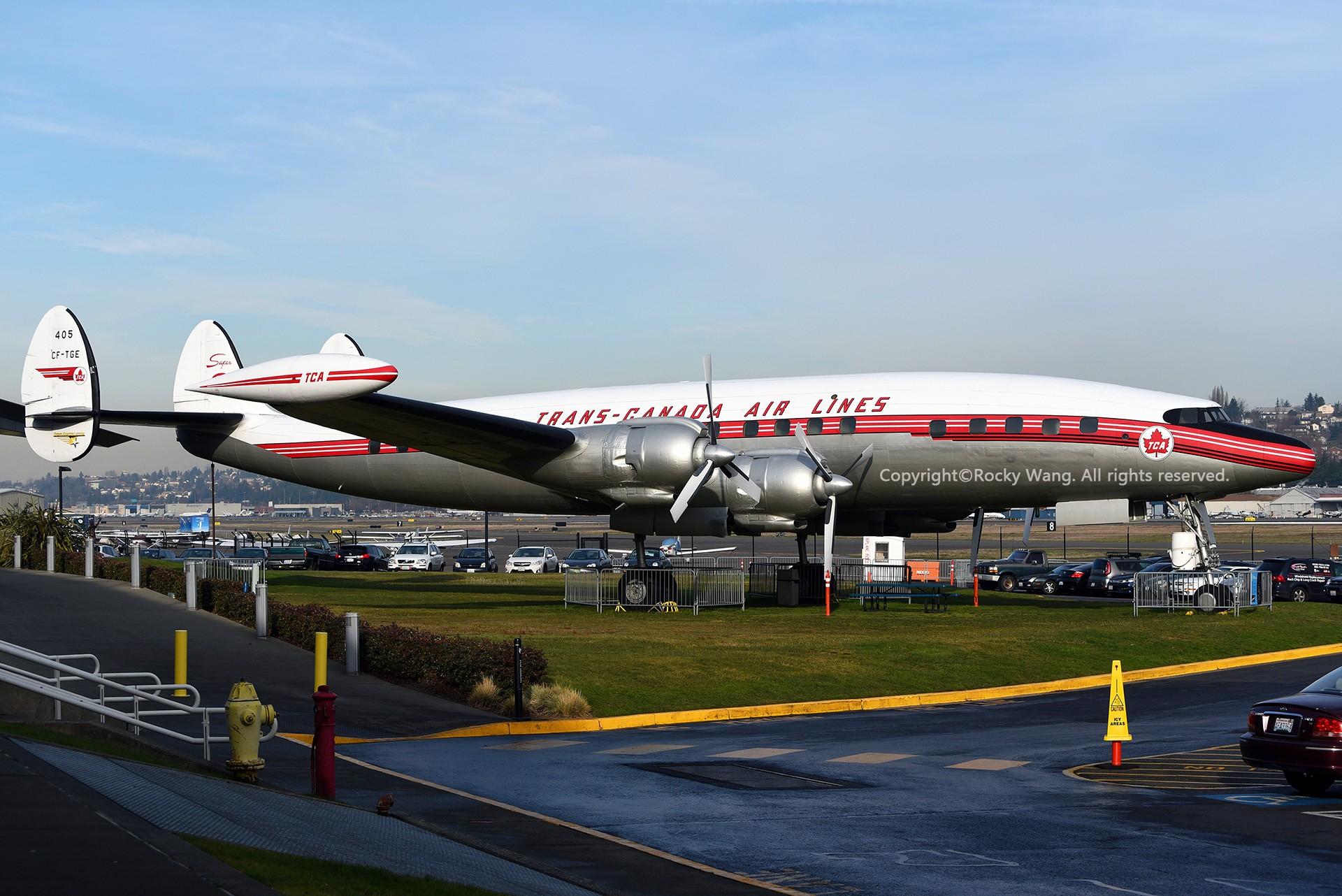 Re:[原创]Seattle 30图 LOCKHEED L-1049 SUPER CONSTELLATION CF-TGE Seattle Boeing Field/King County