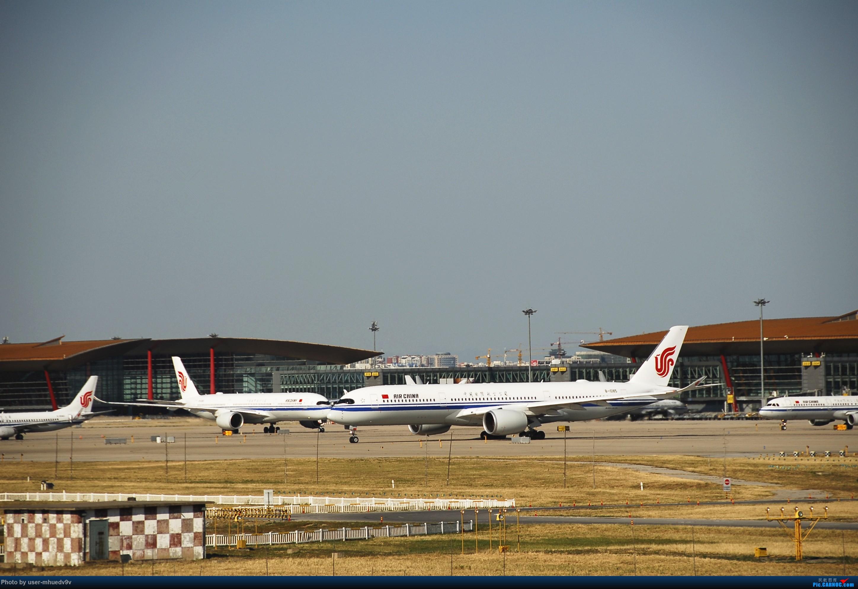 Re:[原创]十一难得北京妖天,萌新ZBAA拍机一组干货,大佬勿喷,马上月考更要放飞自我。。。 AIRBUS A350-900 B-1085 中国北京首都国际机场
